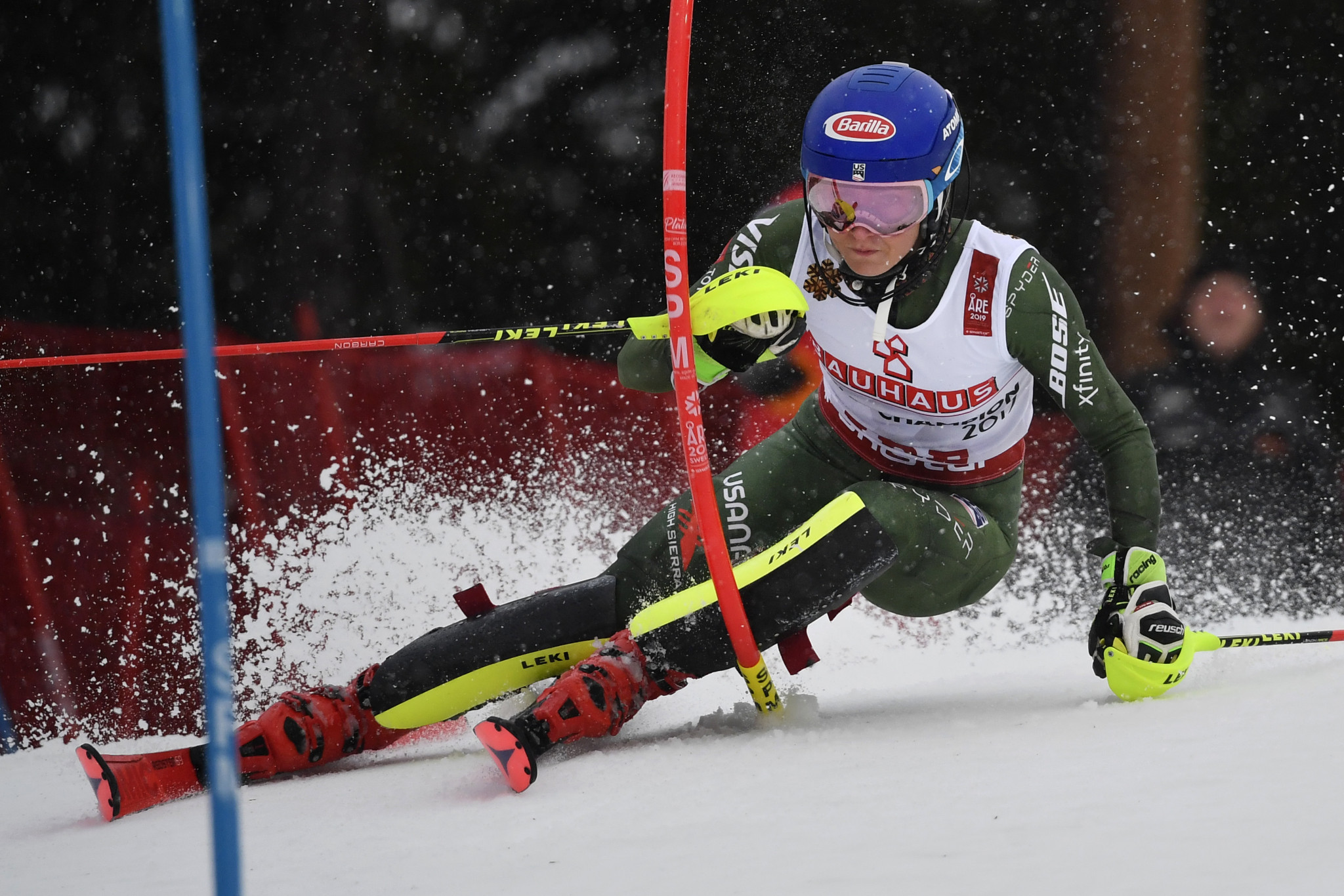 Shiffrin clinches women's slalom title for fourth successive FIS Alpine World Ski Championships