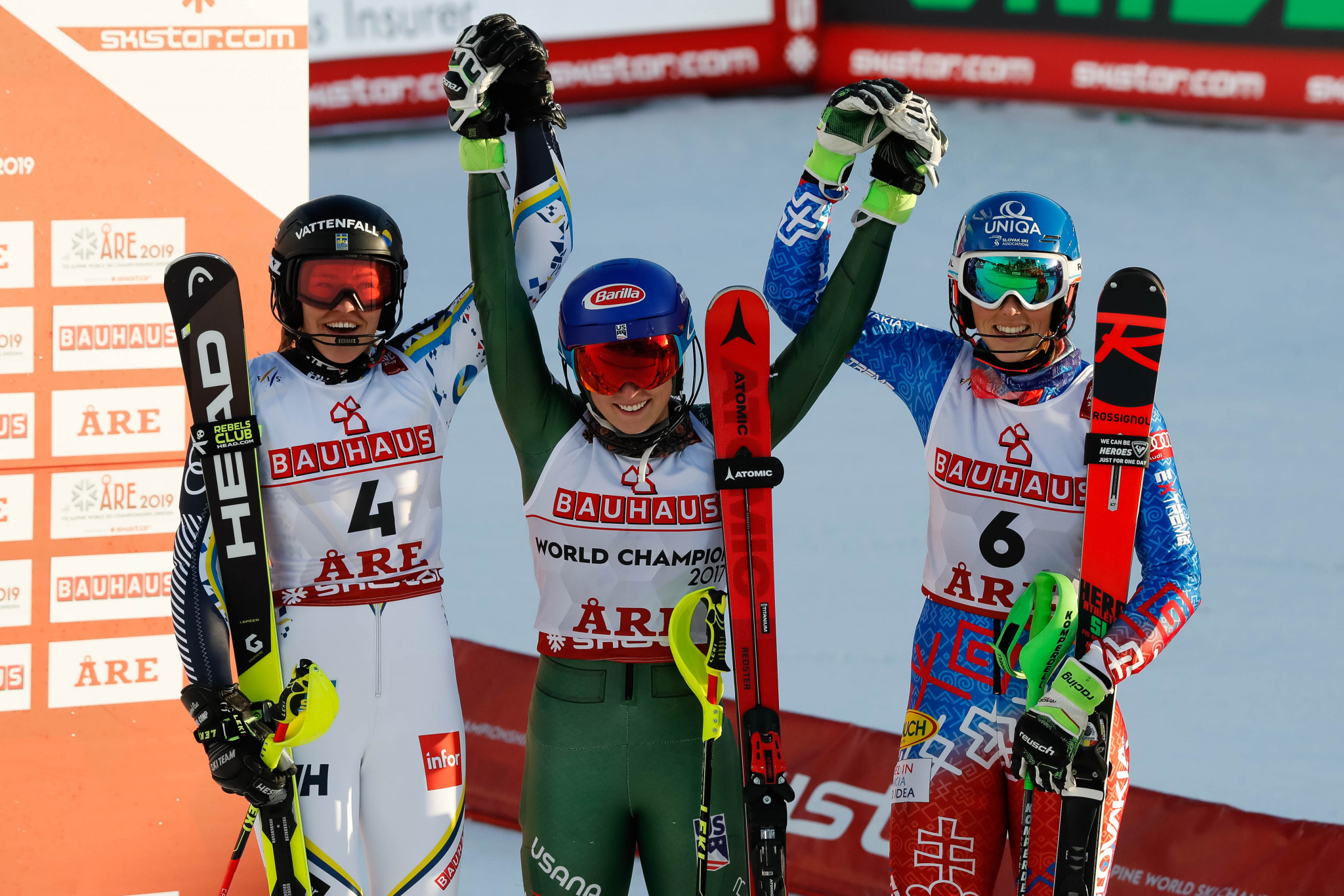Mikaela Shiffrin triumphed in the women's slalom competition ©Getty Images