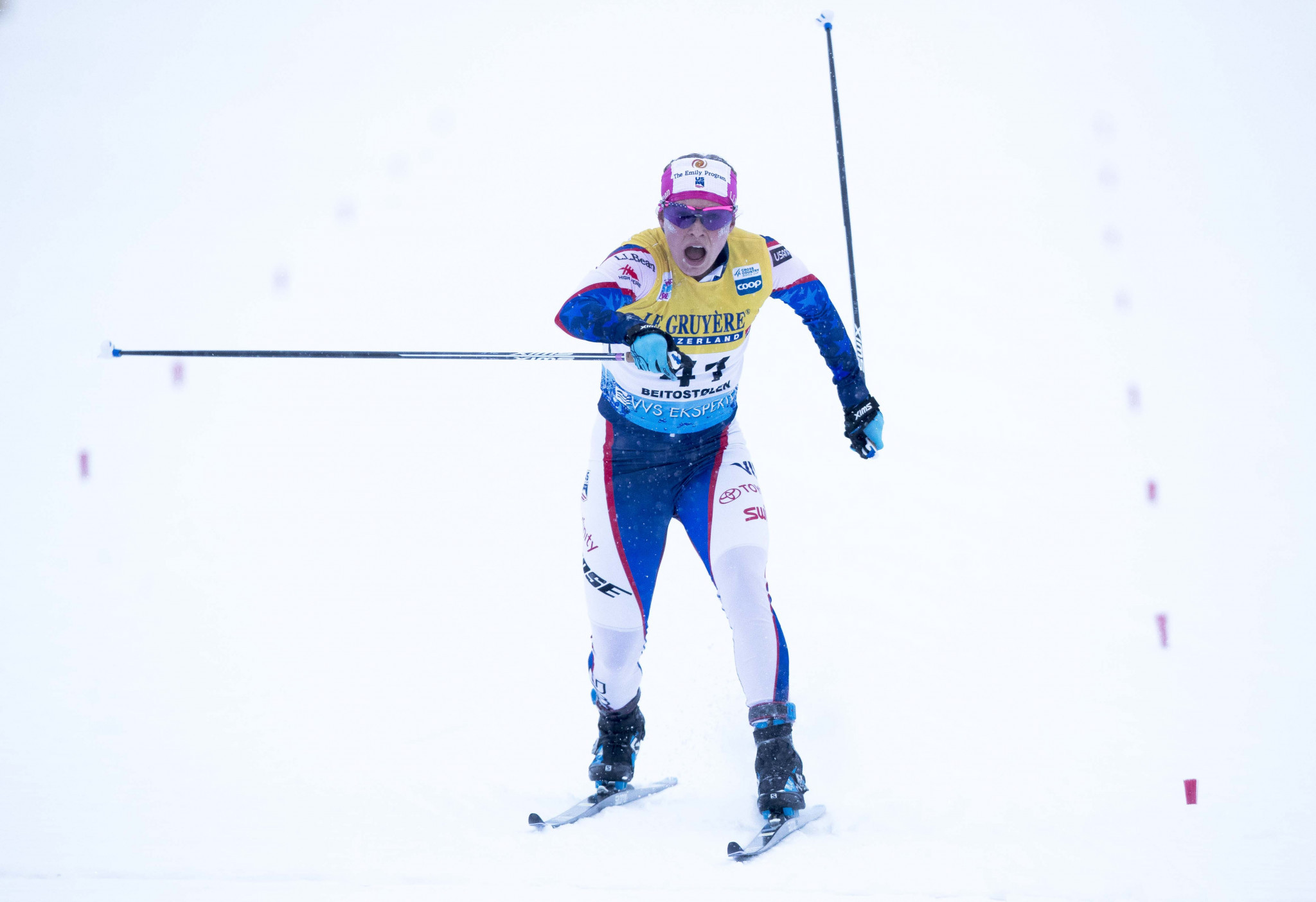 Diggins gains first win of season as Pellegrino triumphs on home snow at FIS Cross-Country World Cup in Cogne