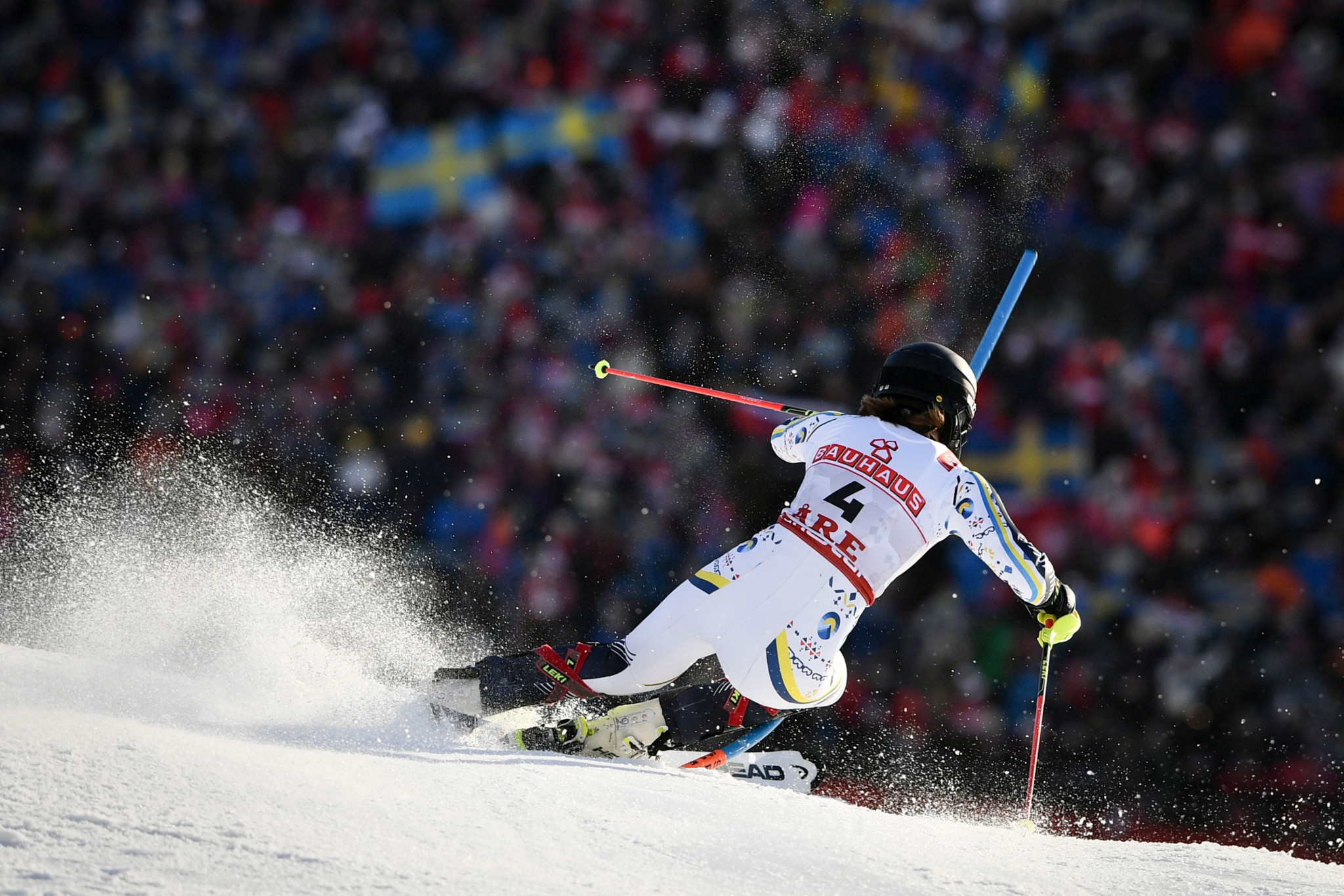 Sweden's Anna Swenn Larsson led the race at the halfway mark ©Getty Images