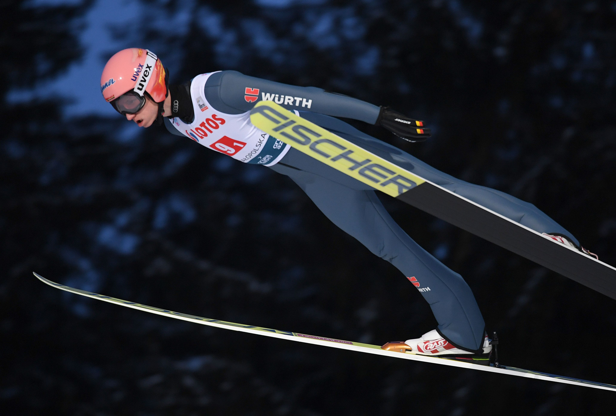 Germany's Karl Geiger won the men's competition in Willingen ©Getty Images