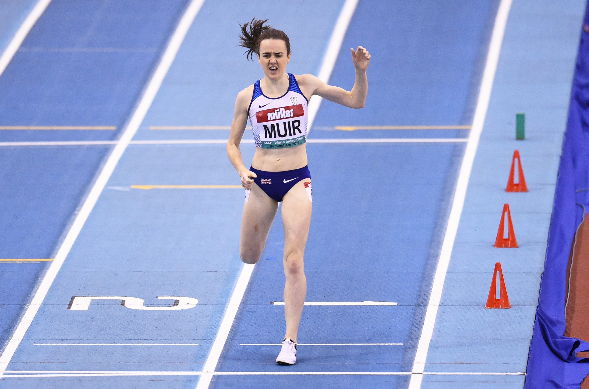Laura Muir set a British indoor record in the women's mile ©Getty Images