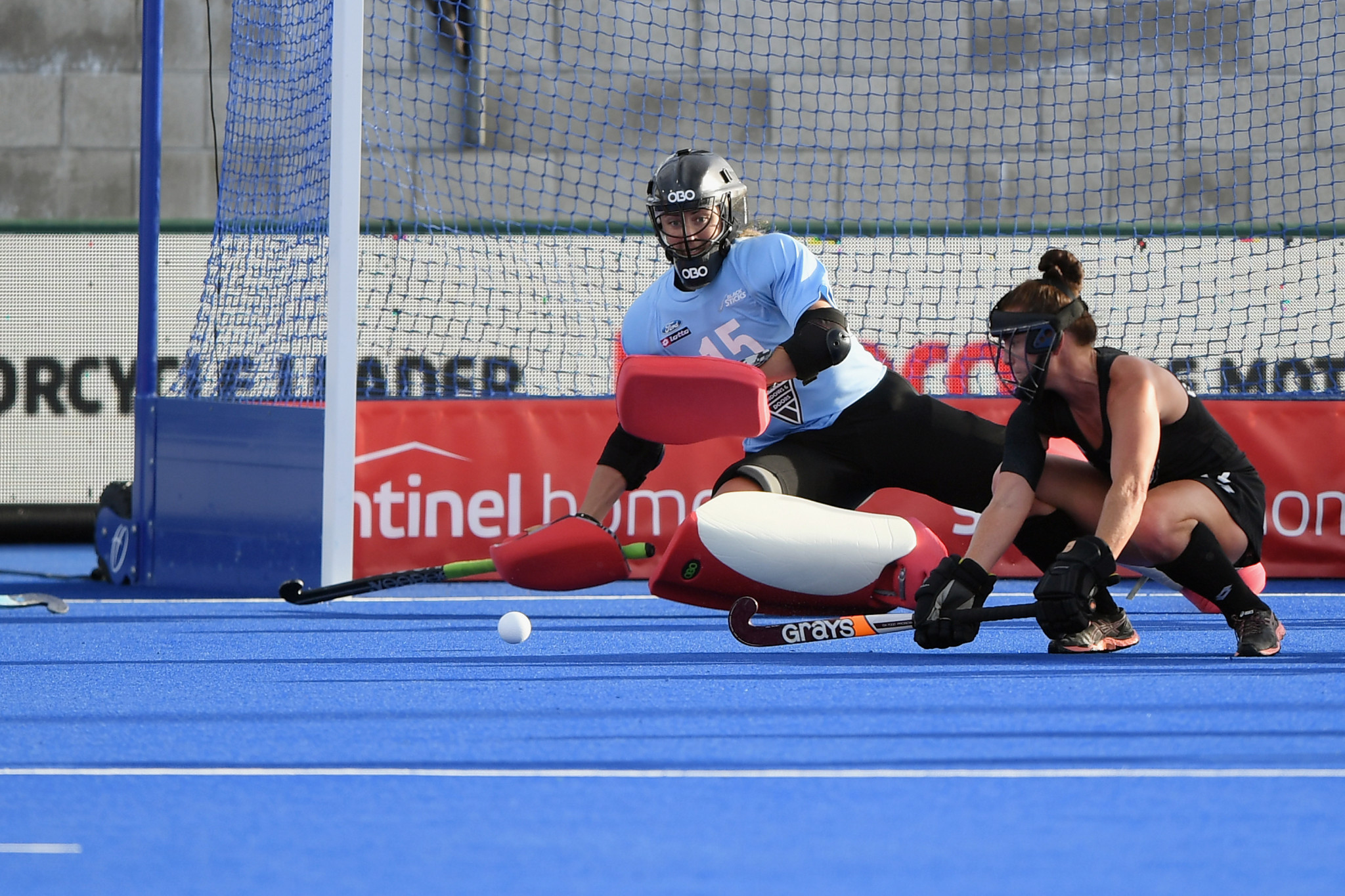 Several good saves in the final quarter saw New Zealand goalkeeper Grace O'Hanlon voted player of the match ©Getty Images
