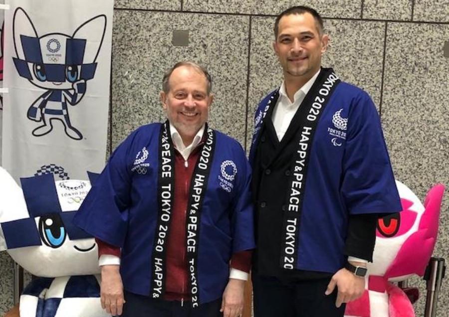 ISSF President Vladimir Lisin also met with Tokyo 2020 sport director Koji Murofushi ©ISSF