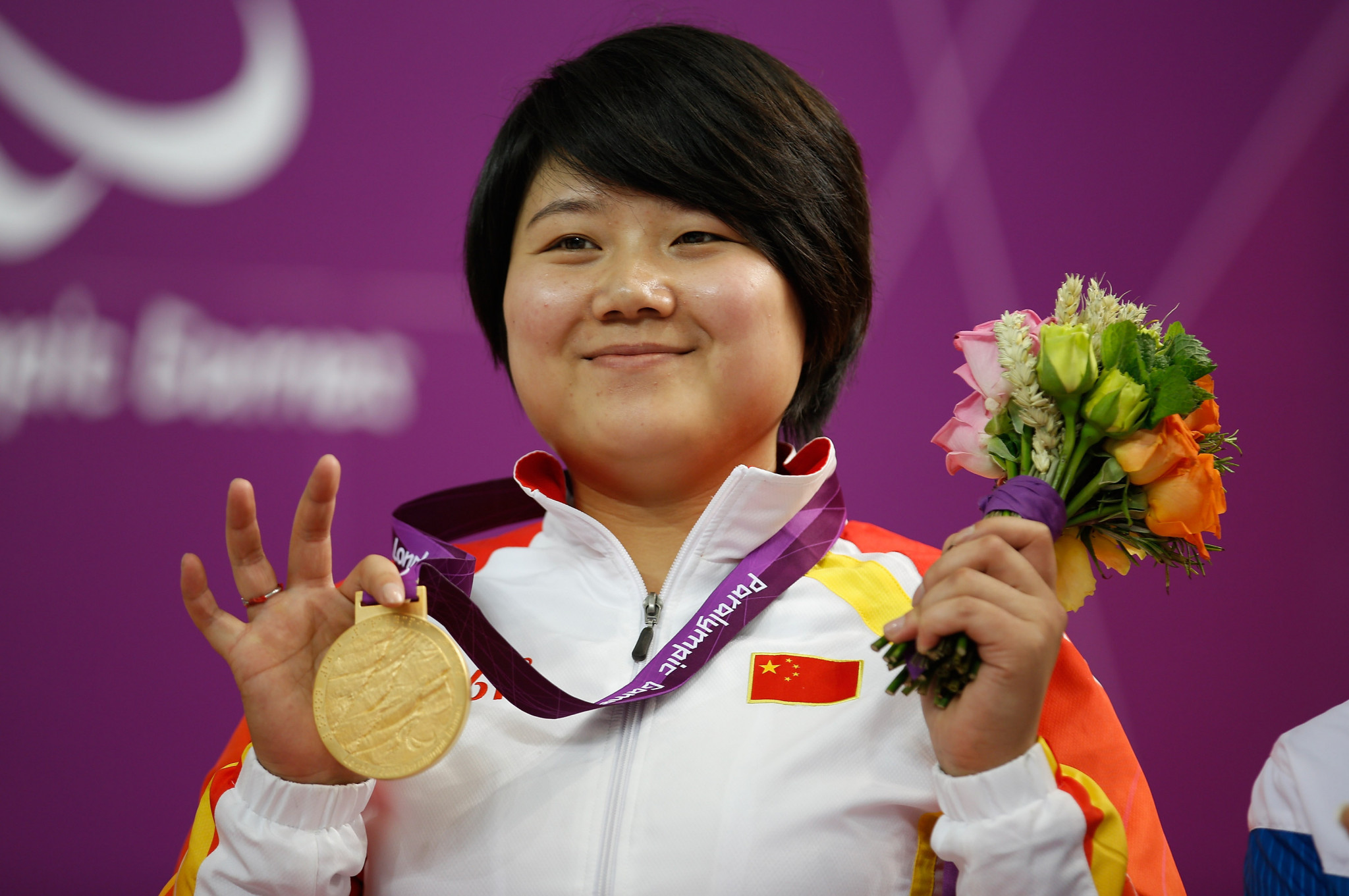 China's four-time Paralympic champion Zhang Cuiping won the women's 50m rifle three positions SH1 final ©Getty Images