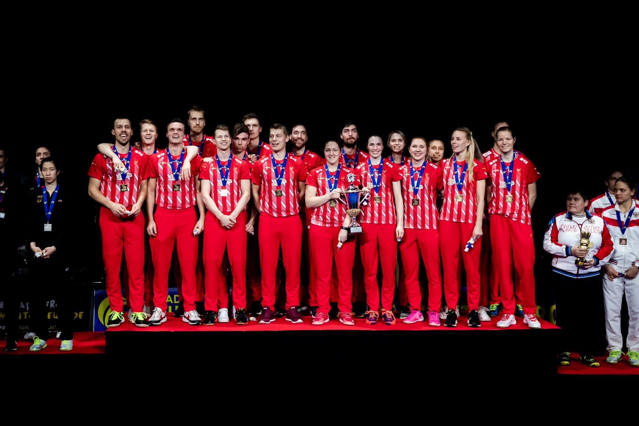 Denmark beat Germany in Copenhagen to retain European Mixed Team Badminton title