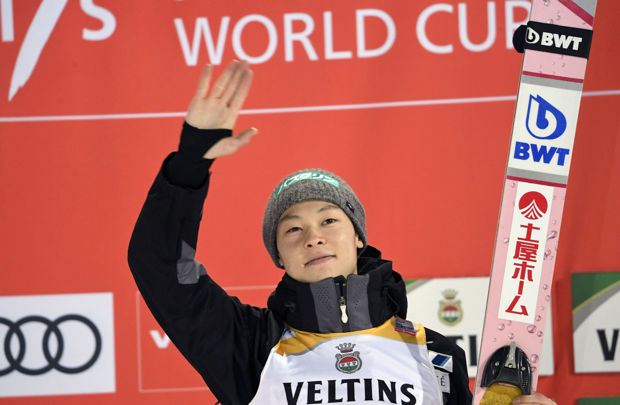Japan's Ryoyu Kobayashi triumphed in the second men's event of the FIS Ski Jumping World Cup in Willingen ©Getty Images