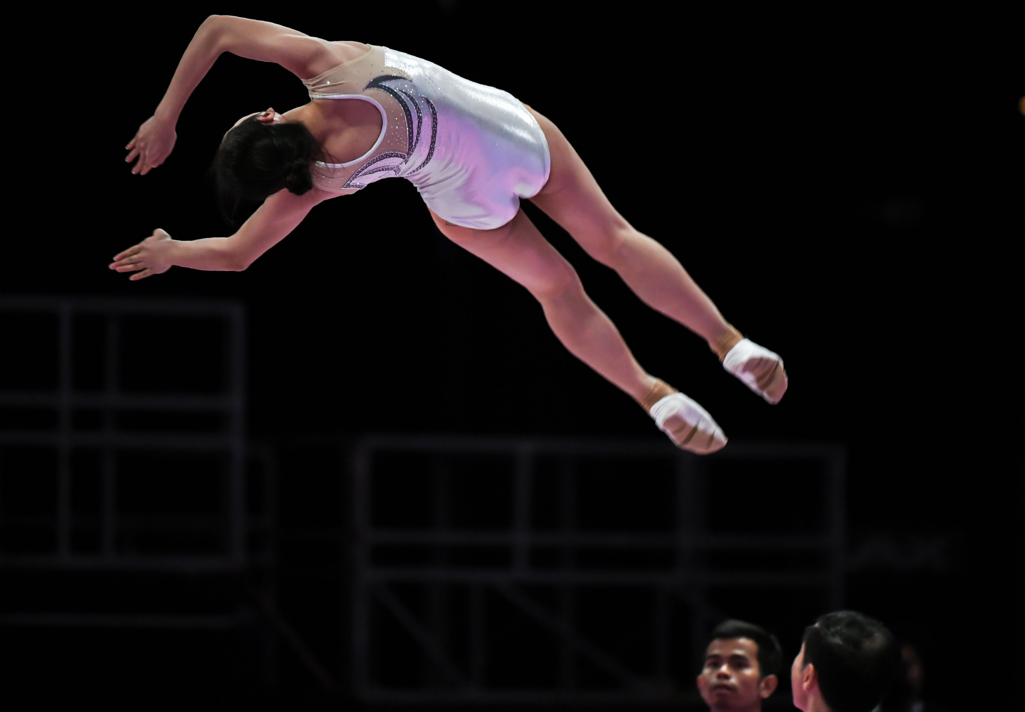 China's Liu Lingling triumphed in the woman's event at the FIG Trampoline World Cup in Baku ©Getty Images