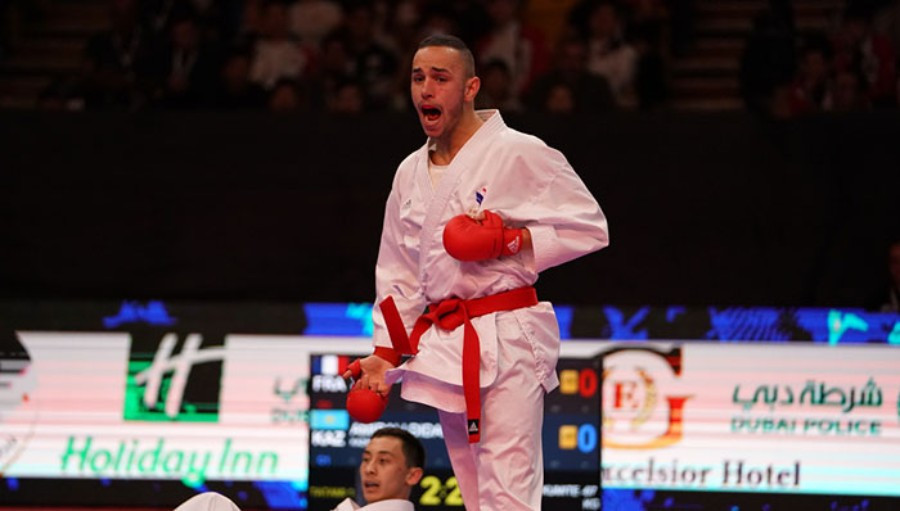 The French team celebrated three gold medals on the final day of action ©WKF