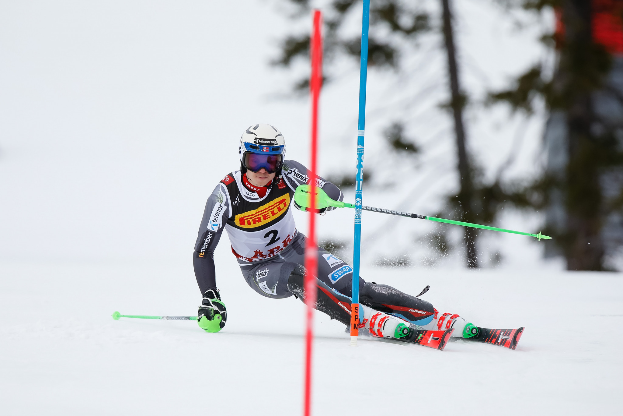Henrik Kristoffersen was hoping to add to his giant slalom victory ©Getty Images