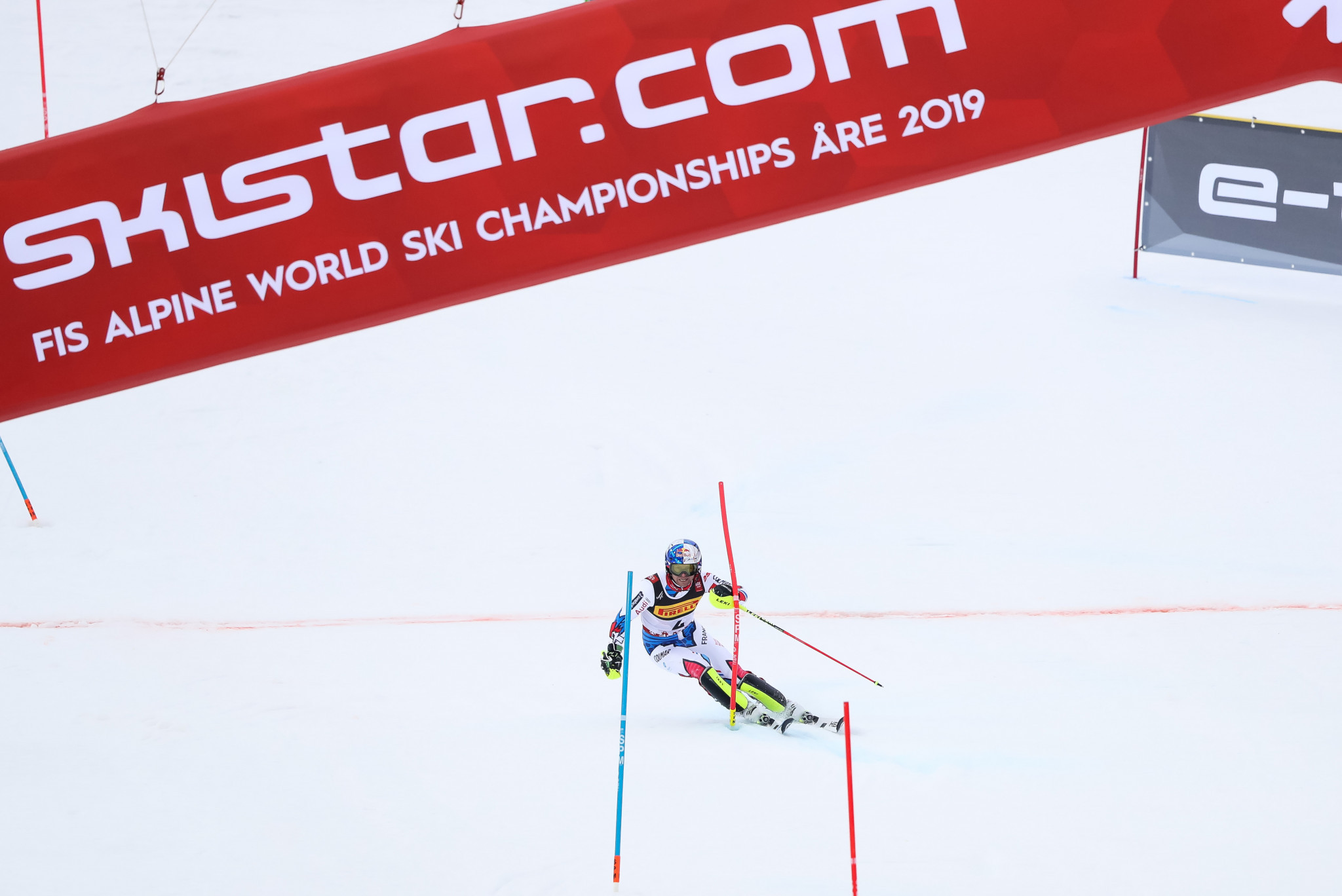France's Alexis Pinturault was Hirscher's closest challenger at the halfway stage of the competition ©Getty Images