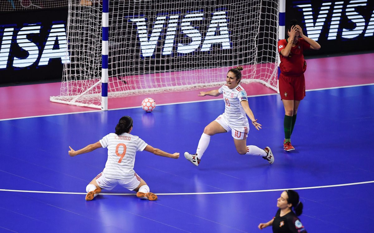 Spain thrash hosts Portugal in UEFA Women's Futsal Euros final