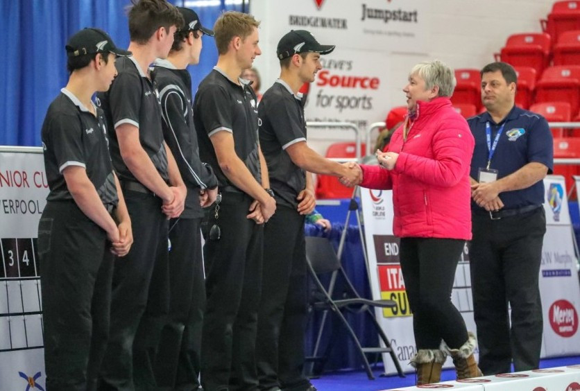 New Zealand secured their second win of the men's tournament at the World Junior Curling Championships in Liverpool ©World Curling Federation