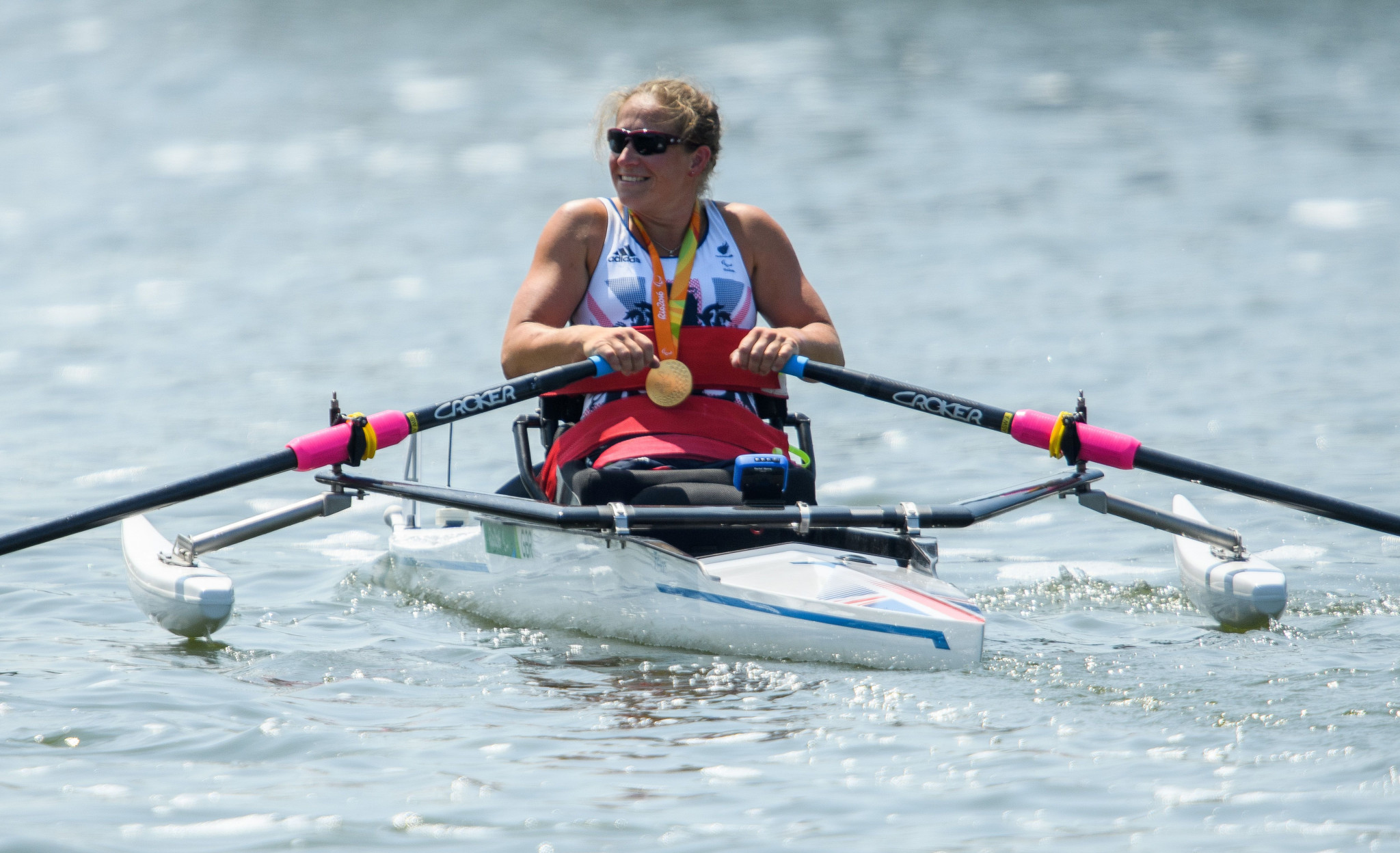 Rachel Morris, who is now 39, won a Paralympic Games gold medal in rowing at Rio 2016 ©Getty Images