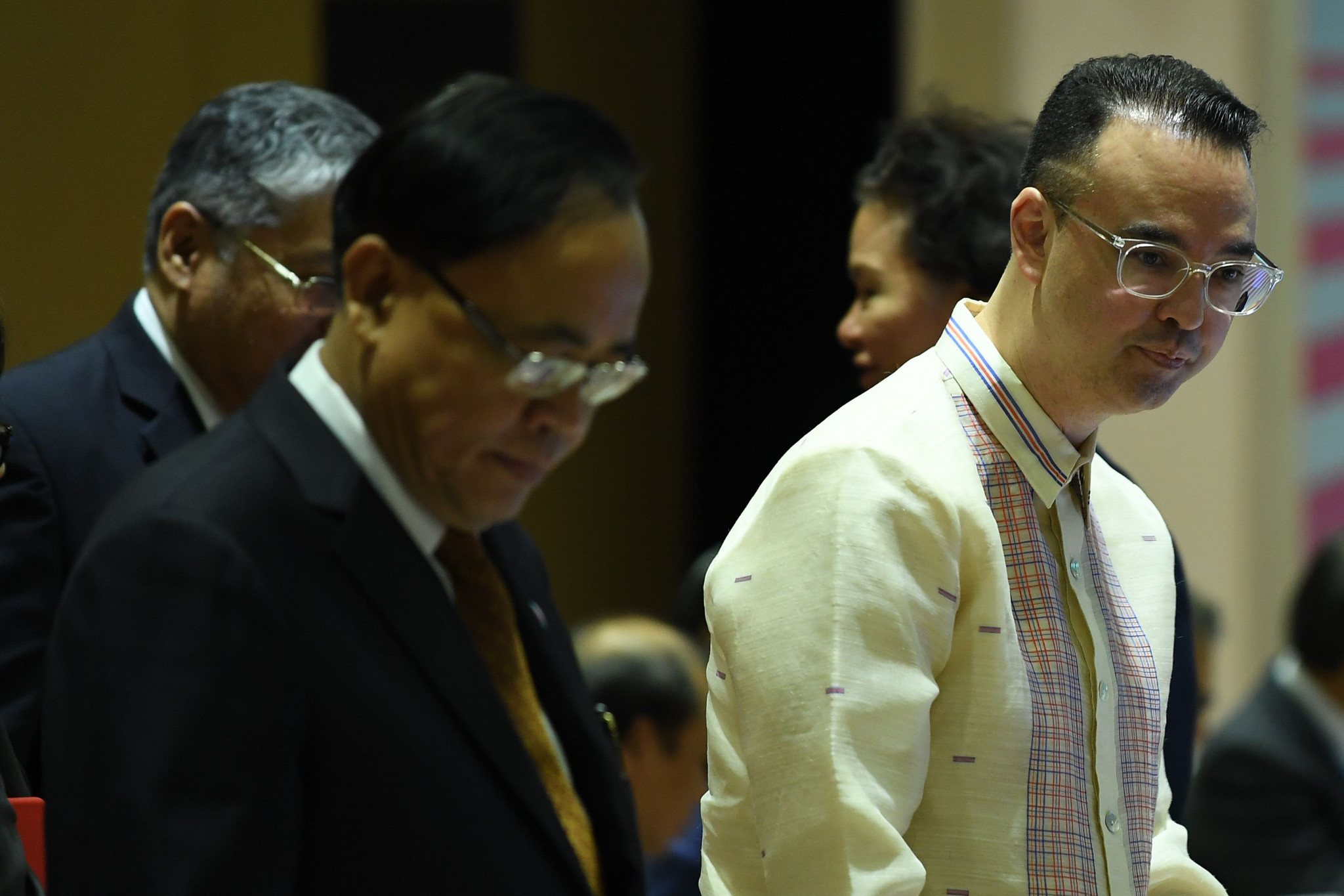 Alan Peter Cayetano, chairman of the 2019 Southeast Asian Games right, said they would need a budget of