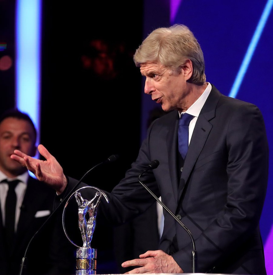 Frenchman Arsene Wenger, the former Arsenal manager, received the Laureus Lifetime Achievement Award ©Getty Images