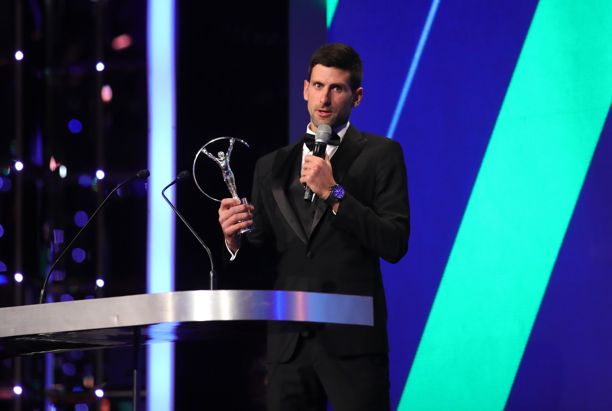 Djokovic named Laureus World Sportsman of the Year for fourth time as Biles wins women's award