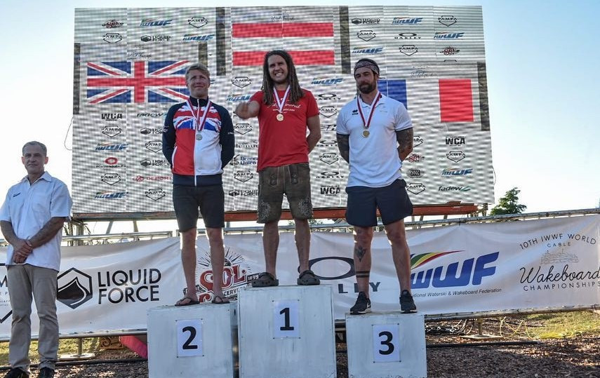 Wakeboard masters gold medals for Austria and Great Britain at IWWF World Cable Wakeboard and Wakeskate Championships