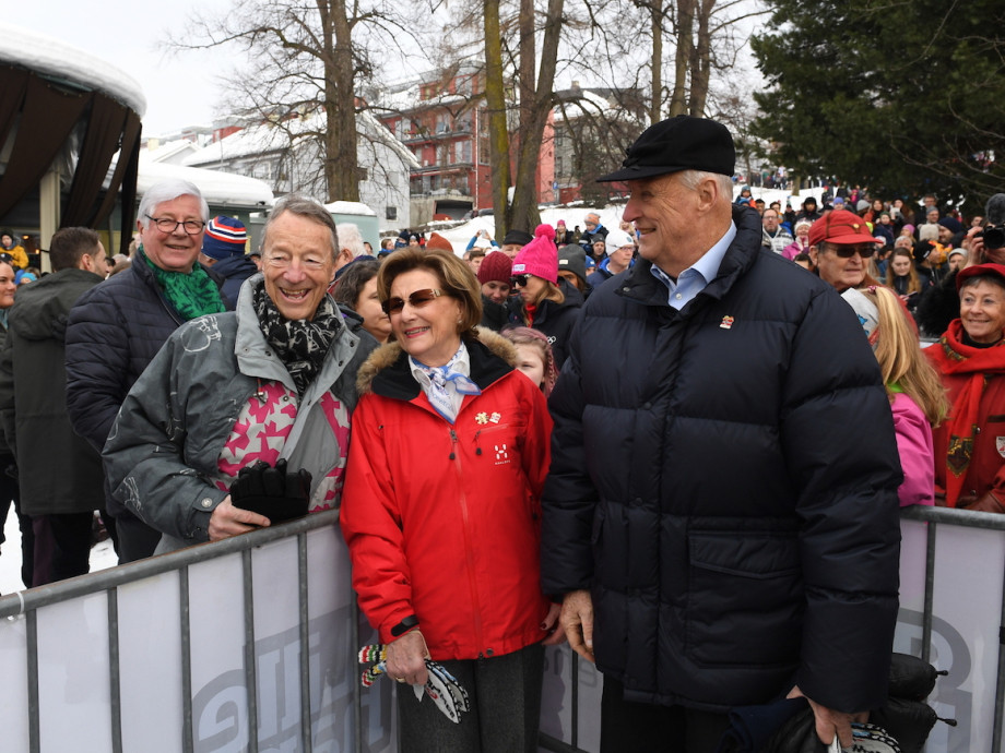 King Harald and Queen Sonja shared  memories of Lillehammer 1994 with Gerhard Heiberg, former President of the Organising Committee, who later became a member of the International Olympic Committee ©The Royal Court