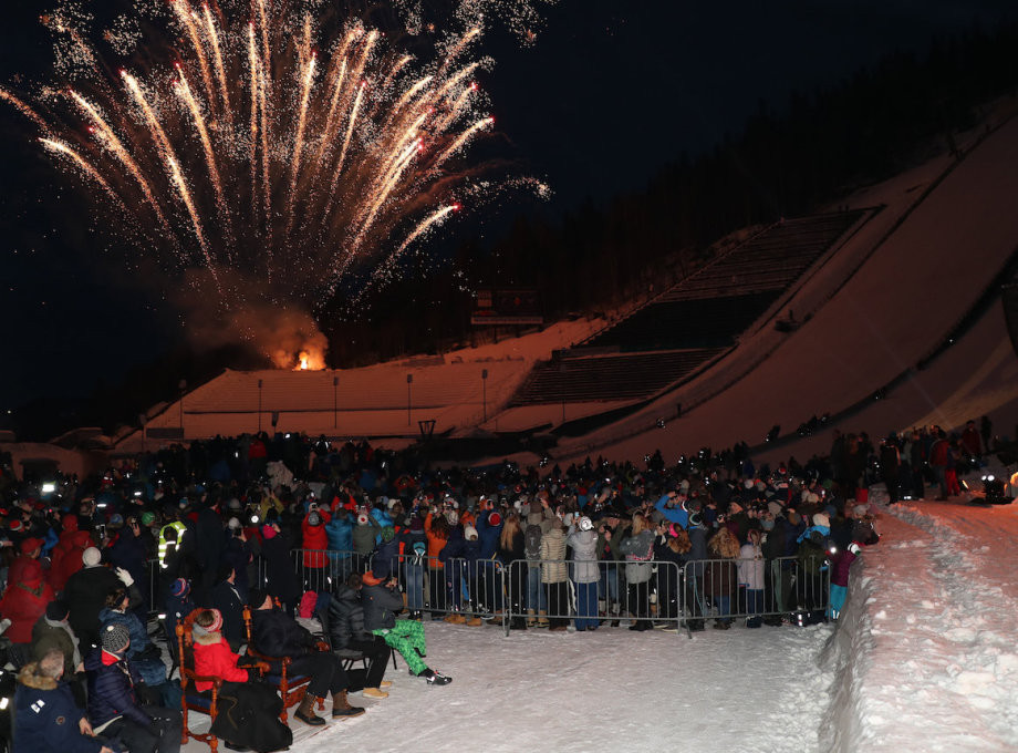 Celebrations for the 25th anniversary of Lillehammer 1994 ended with a firework display ©The Royal Court