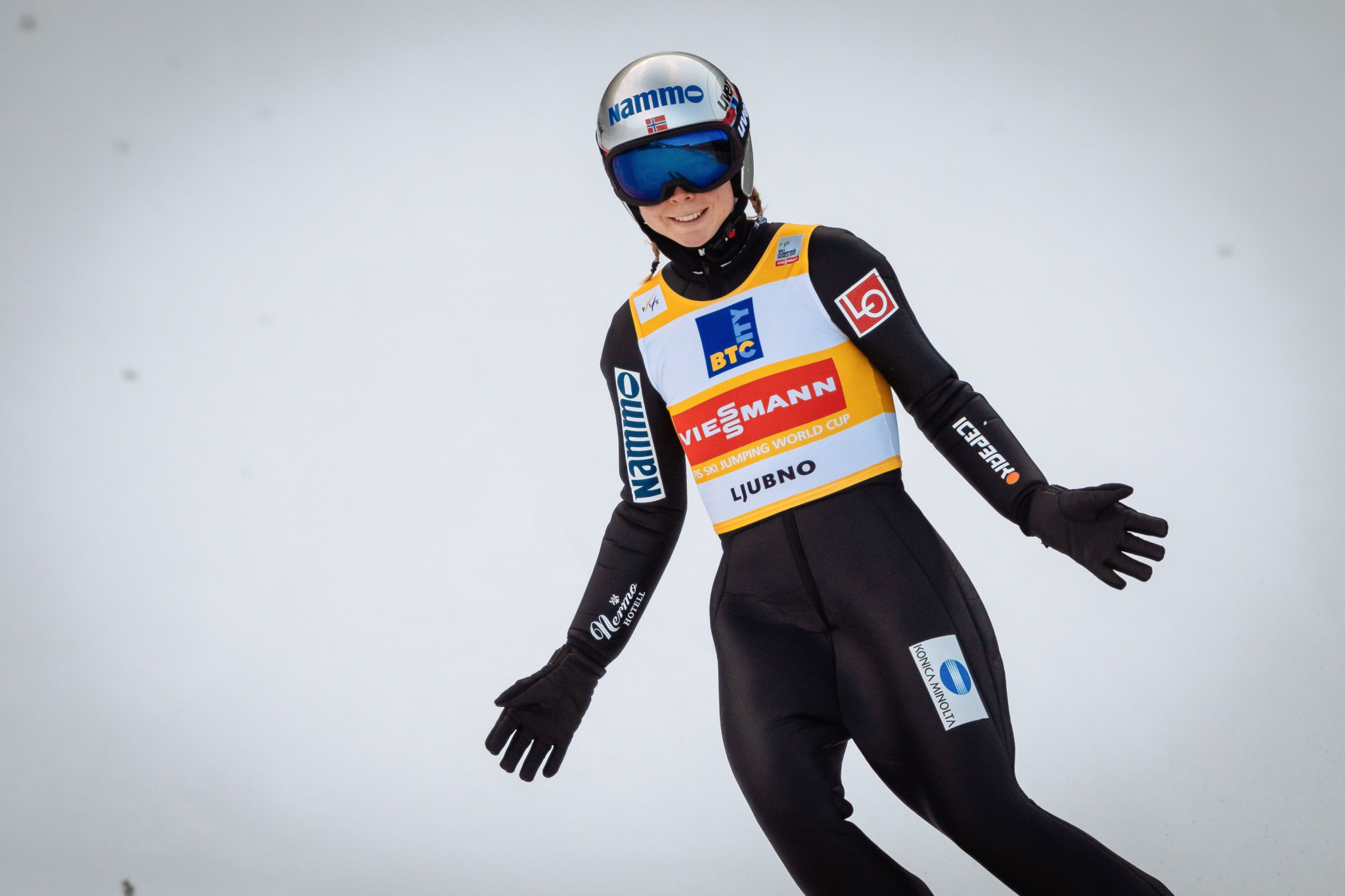 Norway's Maren Lundby will aim to add world gold to her Olympic ski jumping title ©Getty Images