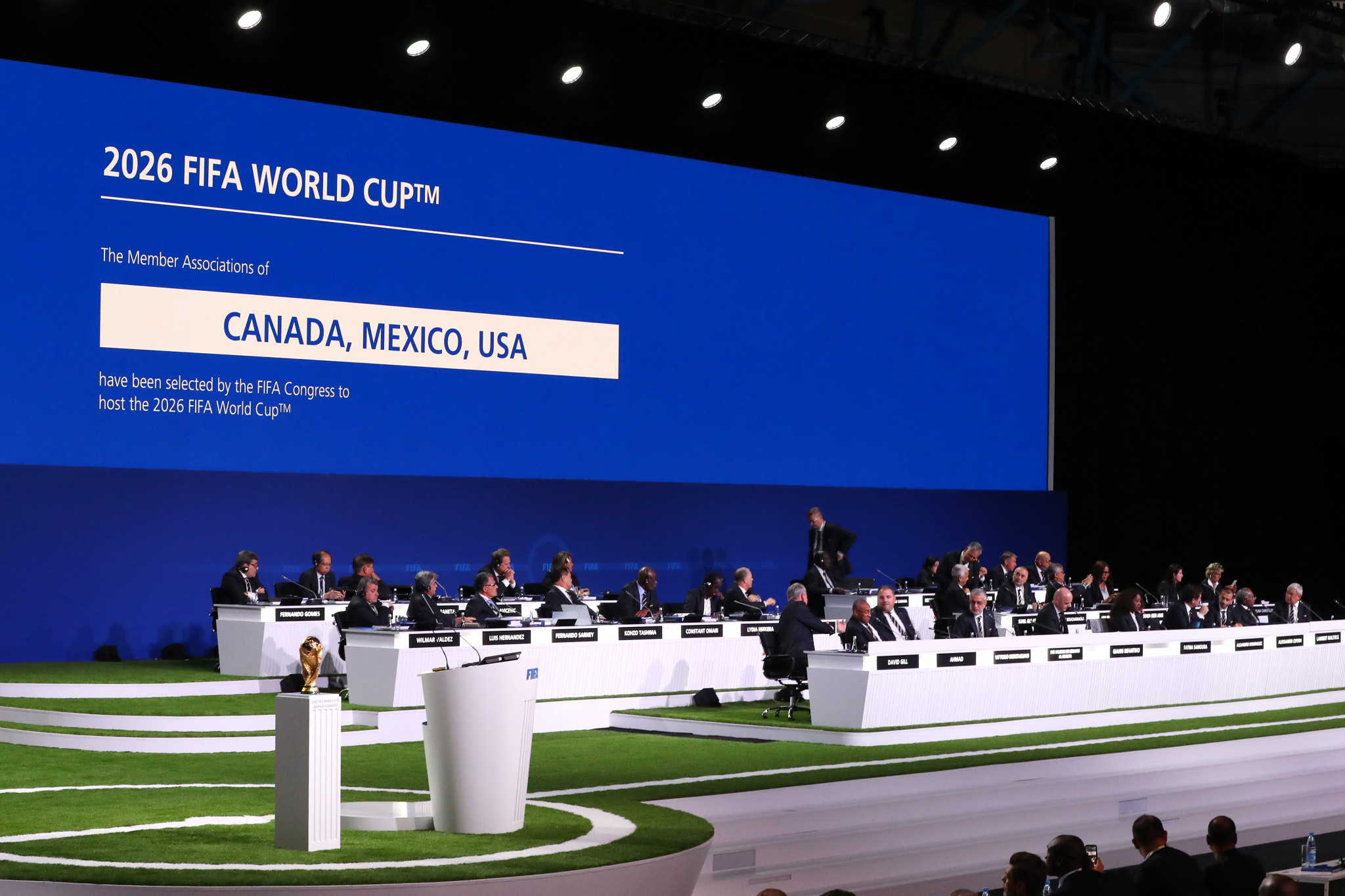 The entire FIFA membership had a vote in the 2026 World Cup process ©Getty Images