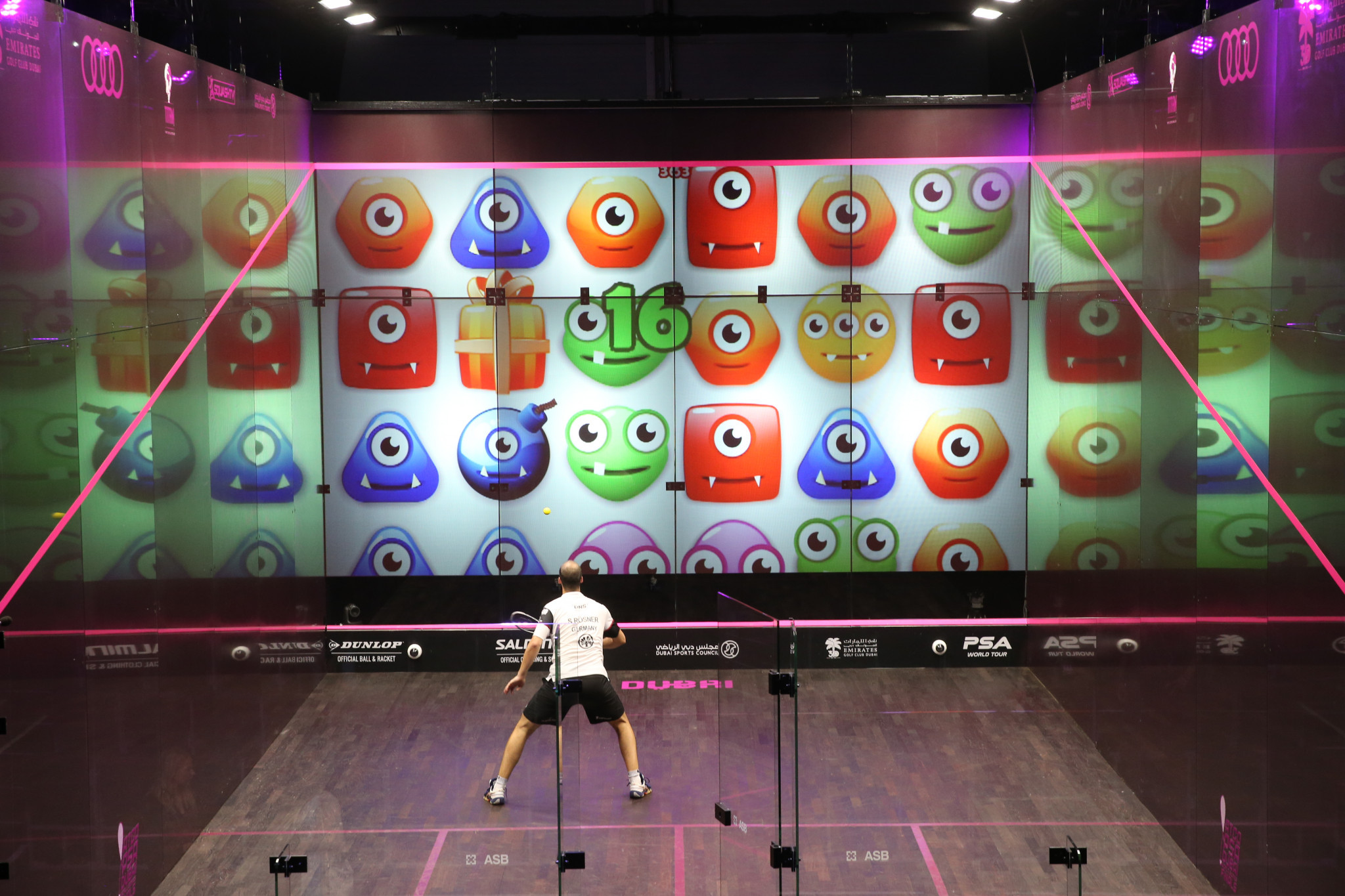 PSA World Squash Championships to feature fully interactive front wall