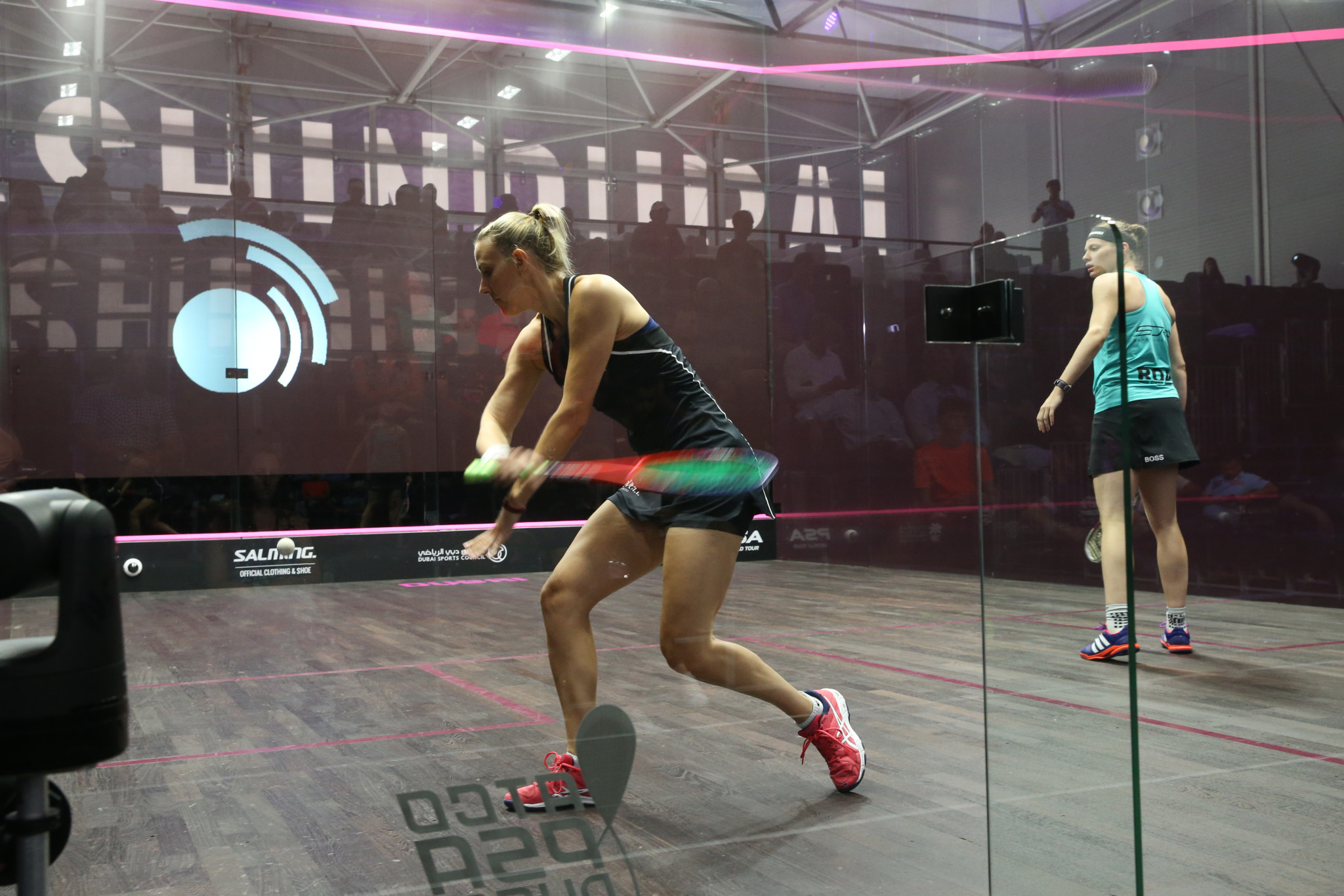 An interactive wall has already featured at last year's PSA World Series Finals in Dubai ©PSA