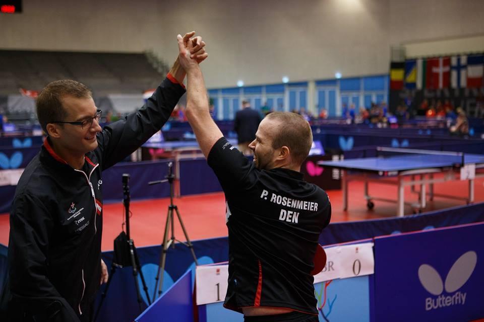 Denmark's Peter Rosenmeier and Michal Spicker earned the men's class 6 title ©Facebook/2015 ITTF Para-Table Tennis European Championship