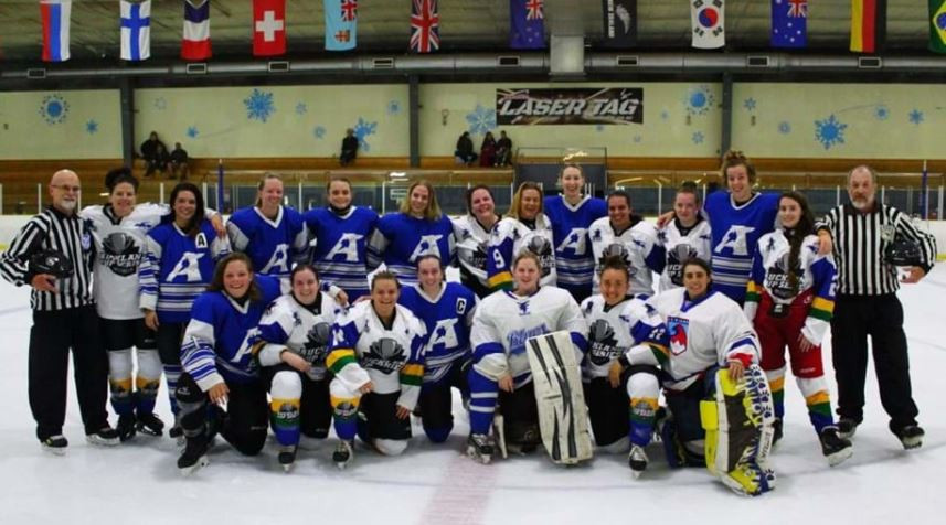 The IIHF has held their annual #GlobalGirlsGame promoting grassroots women's ice hockey ©IIHF