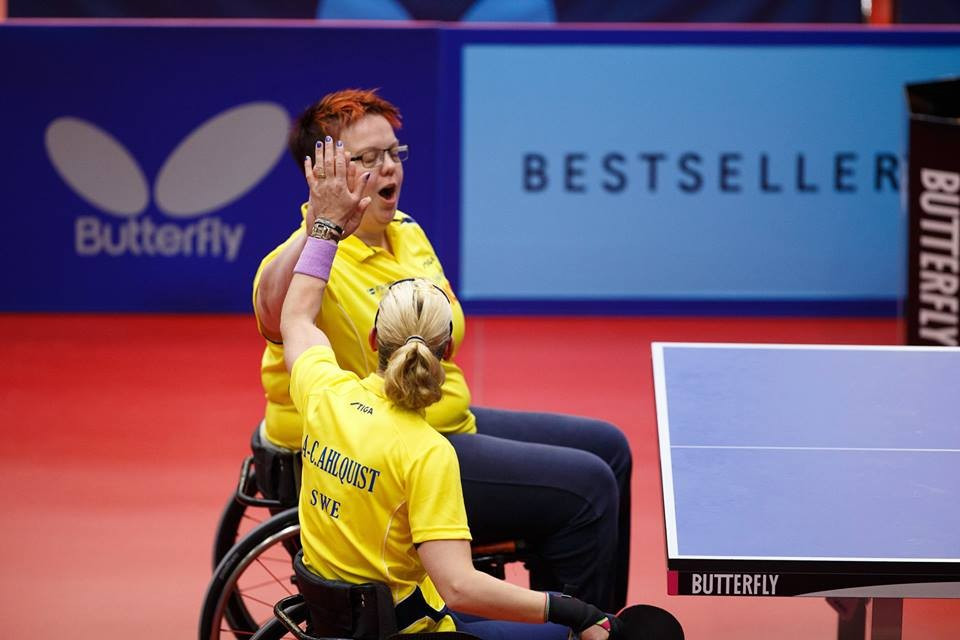 Sweden's Anna-Carin Ahlquist and Ingela Lundbäck won a rematch of the 2011 final in the women's class 4-5 event
