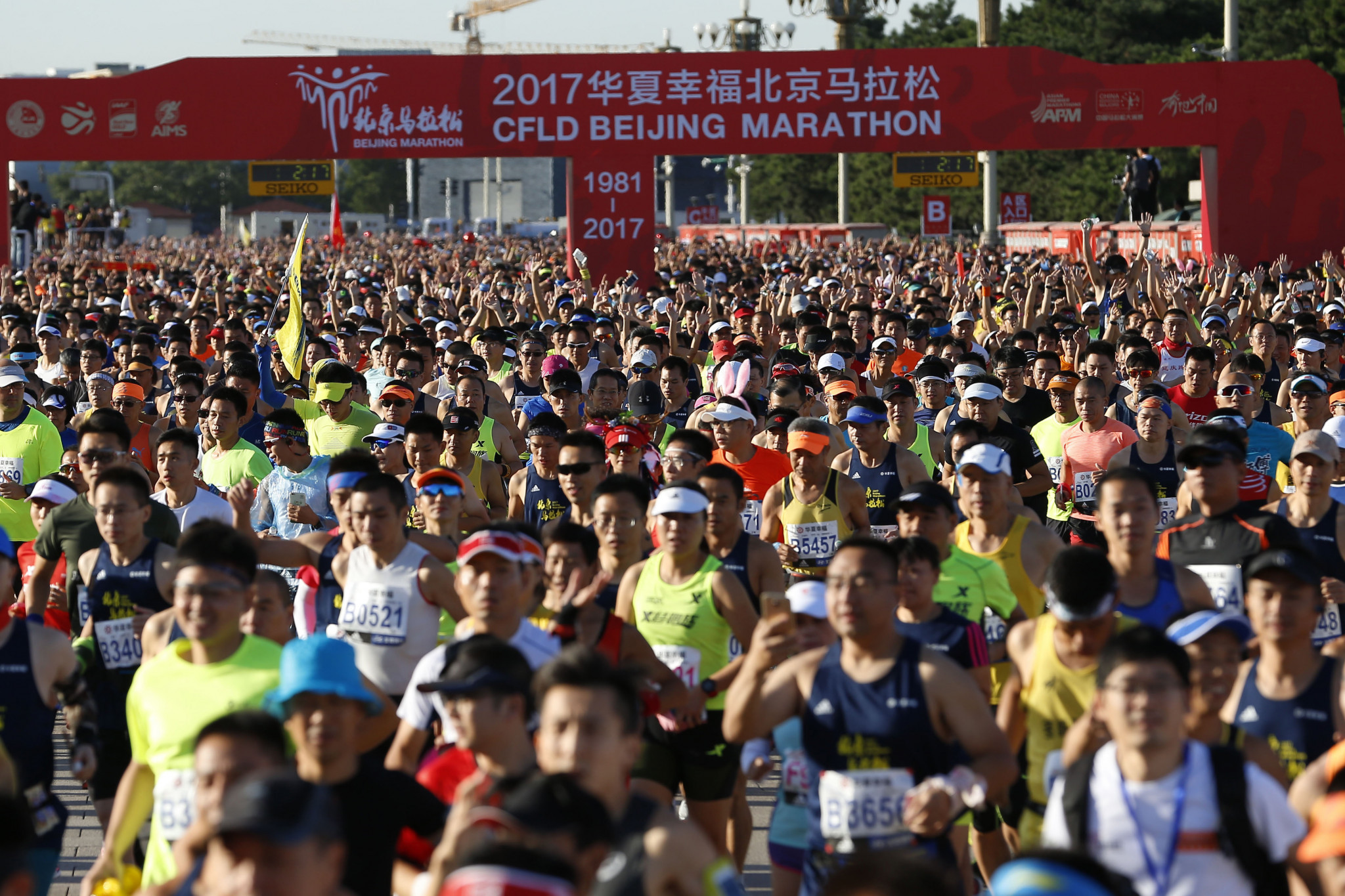Wang Nan, vice-president of the Chinese Athletics Association, says marathon running in booming in his country ©Getty Images