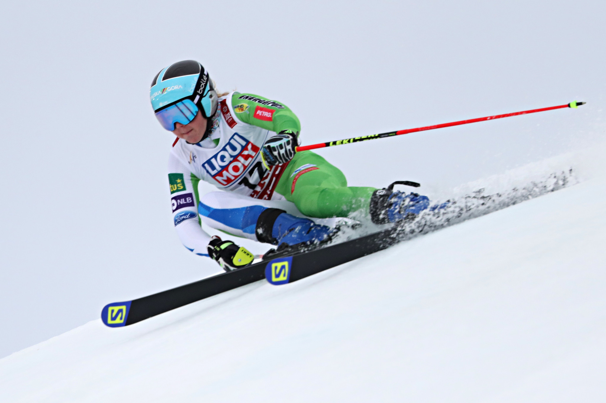 Slovenia's Meta Hrovat defended her title in the women's slalom at the World Junior Alpine Skiing Championships ©Getty Images