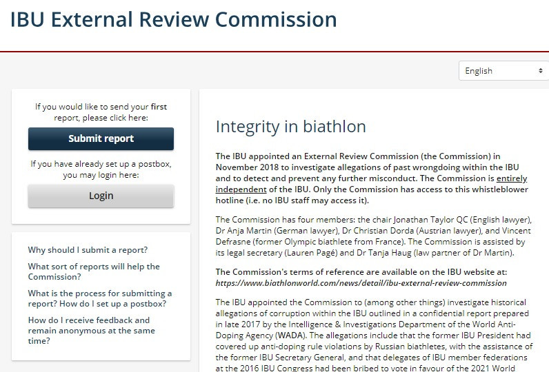 The whistleblower portal was made accessible by the Commission today ©Business Keeper AG