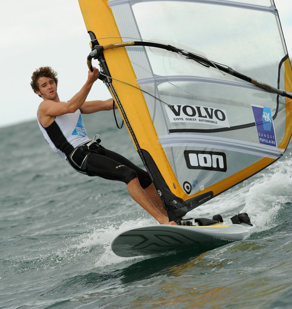 France's Pierre Le Coq is the overnight leader in the men's fleet