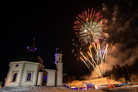 The Ceremony ended with a fireworks display ©Seefeld 2019