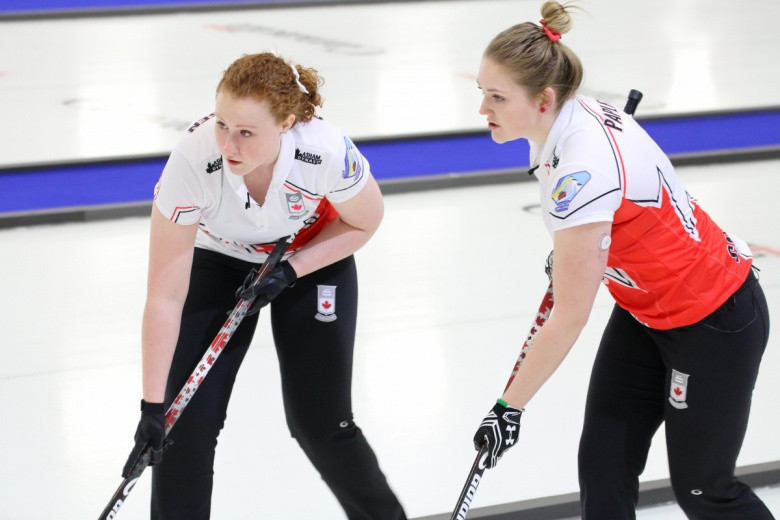 Canada's women beat Switzerland meaning the Swiss and China are now tied for the top spot ©WCF
