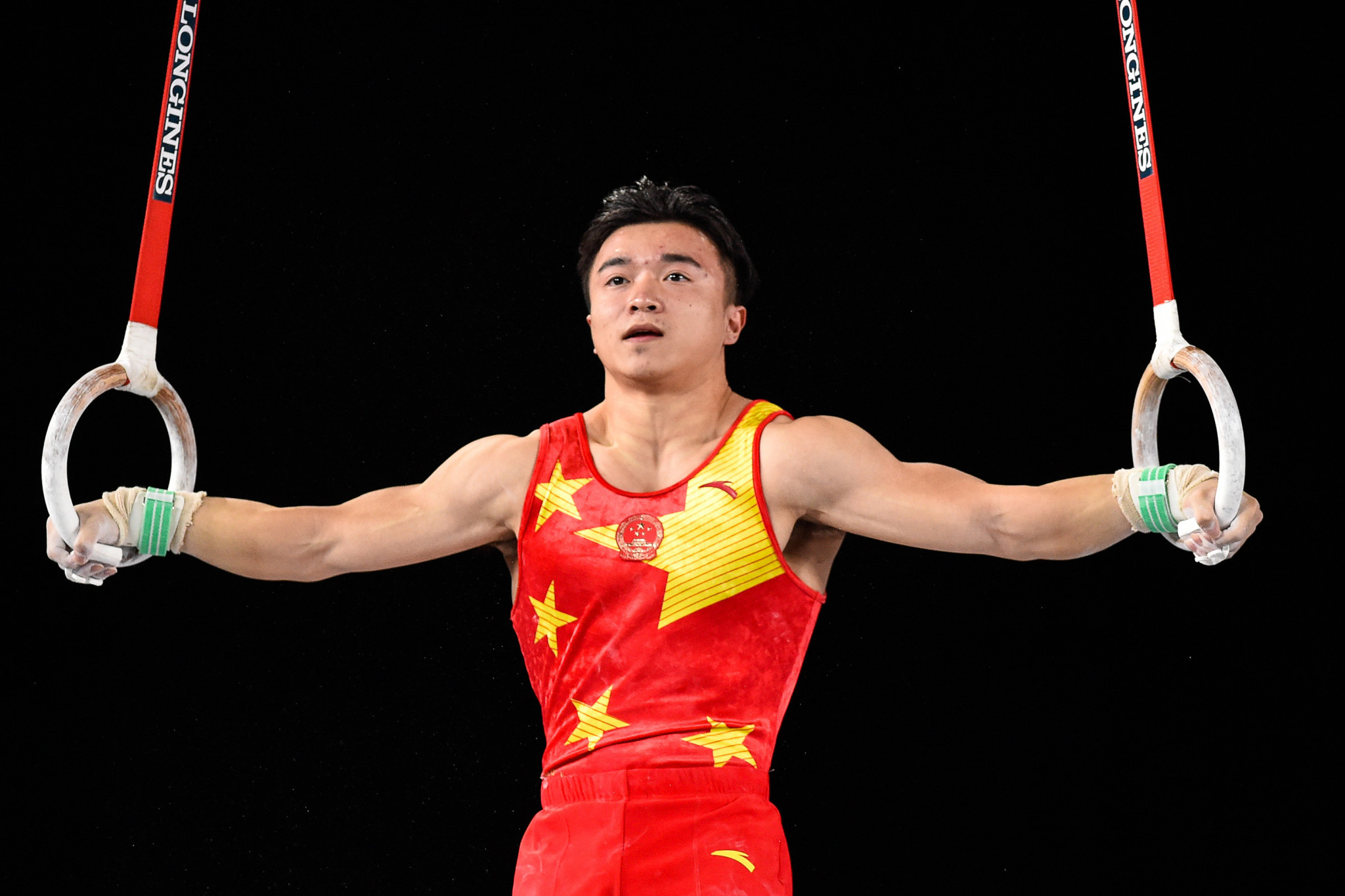 China's Liu Yang topped qualification in the men's rings event on the opening day of the FIG Individual Apparatus World Cup in Melbourne ©Getty Images