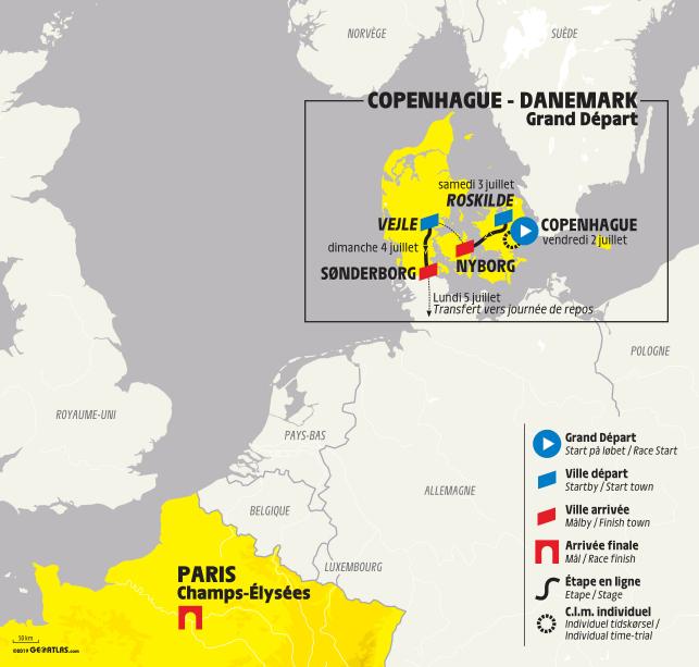 Tour De France 2020 Stages.Copenhagen To Stage Start Of 2021 Tour De France