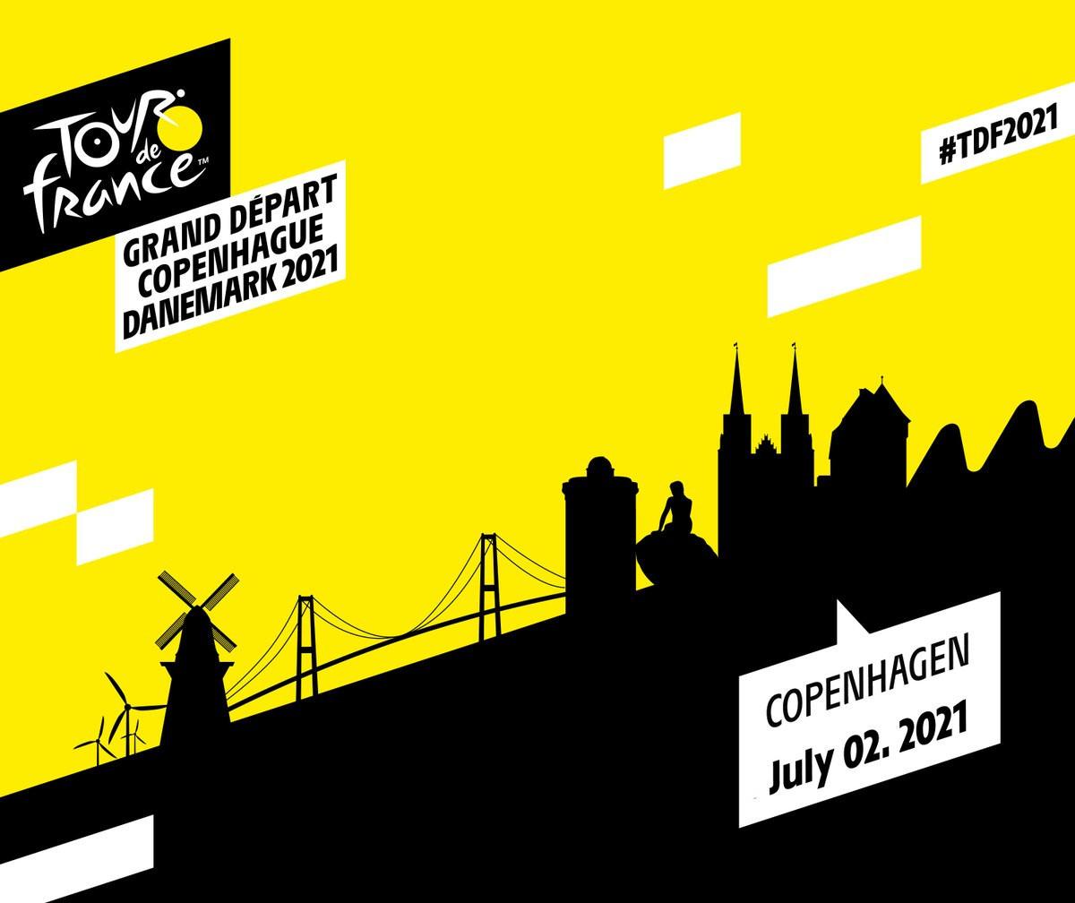 Copenhagen to stage start of 2021 Tour de France