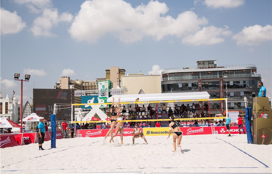 Action begun today at the FIVB Beach World Tour event in Phnom Penh ©FIVB