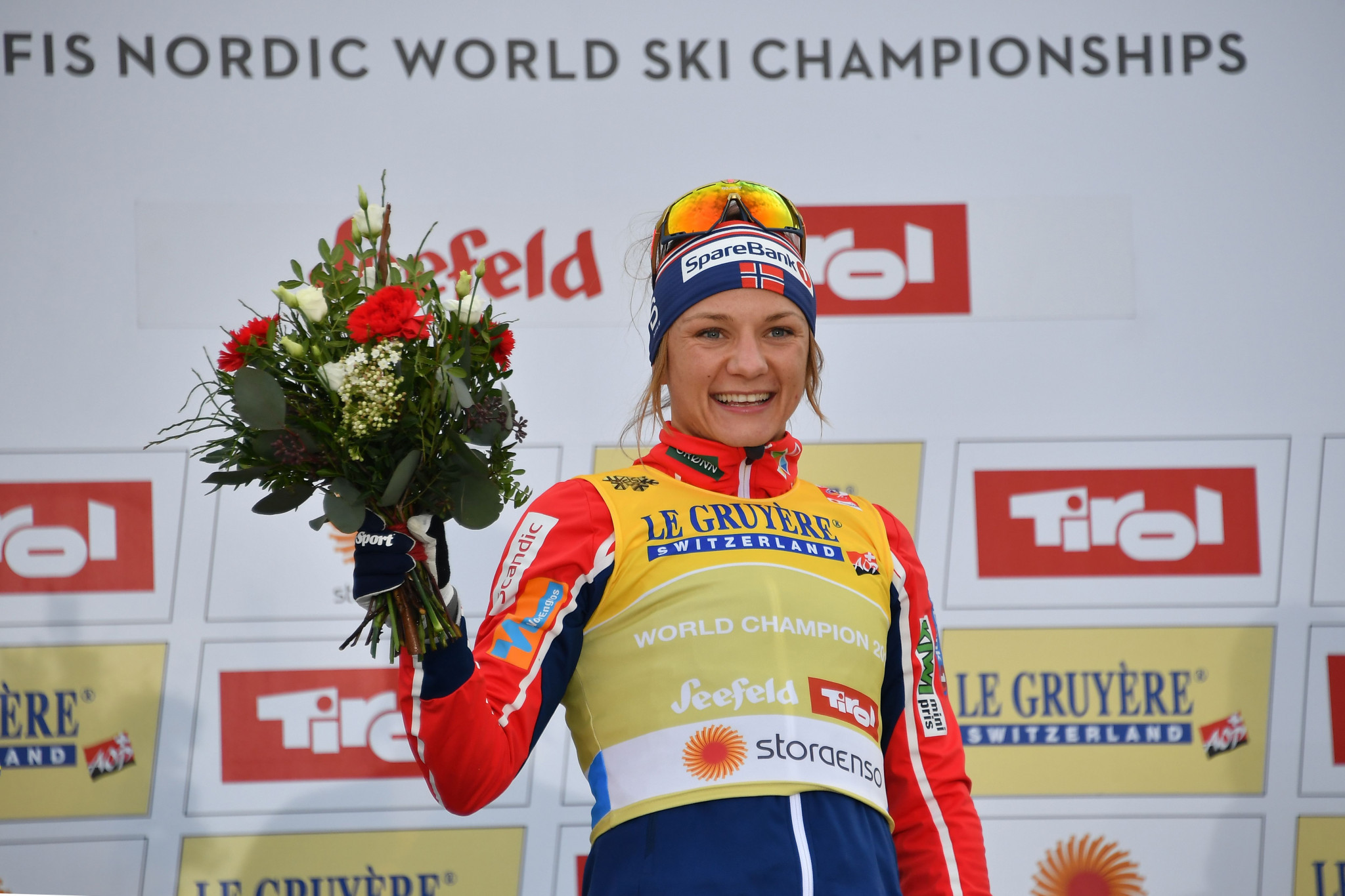 Norway's Maiken Caspersen Falla defended her world title in the women's event ©Getty Images