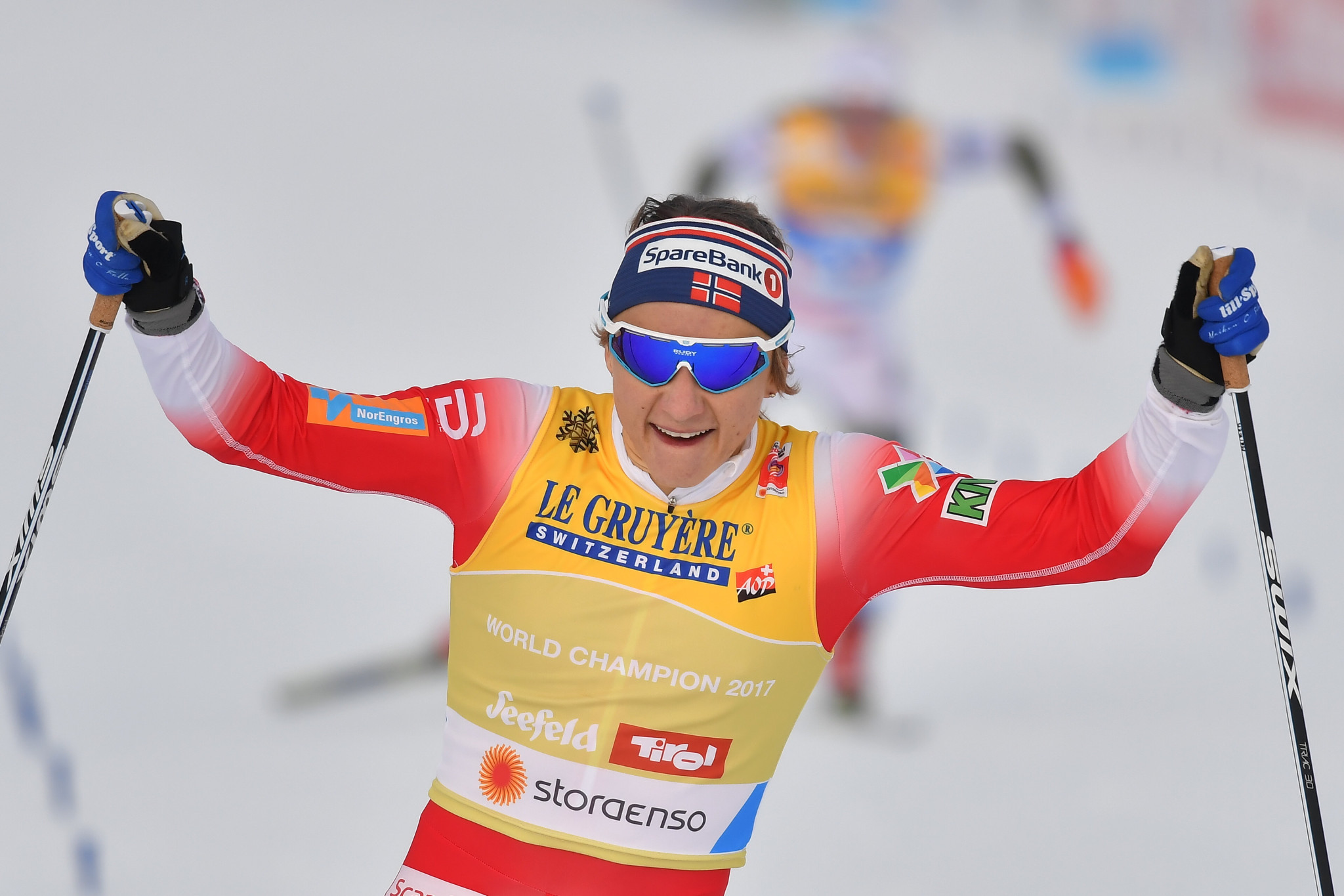 Norway's Maiken Caspersen Falla defended her title in the women's cross country sprint ©Getty Images