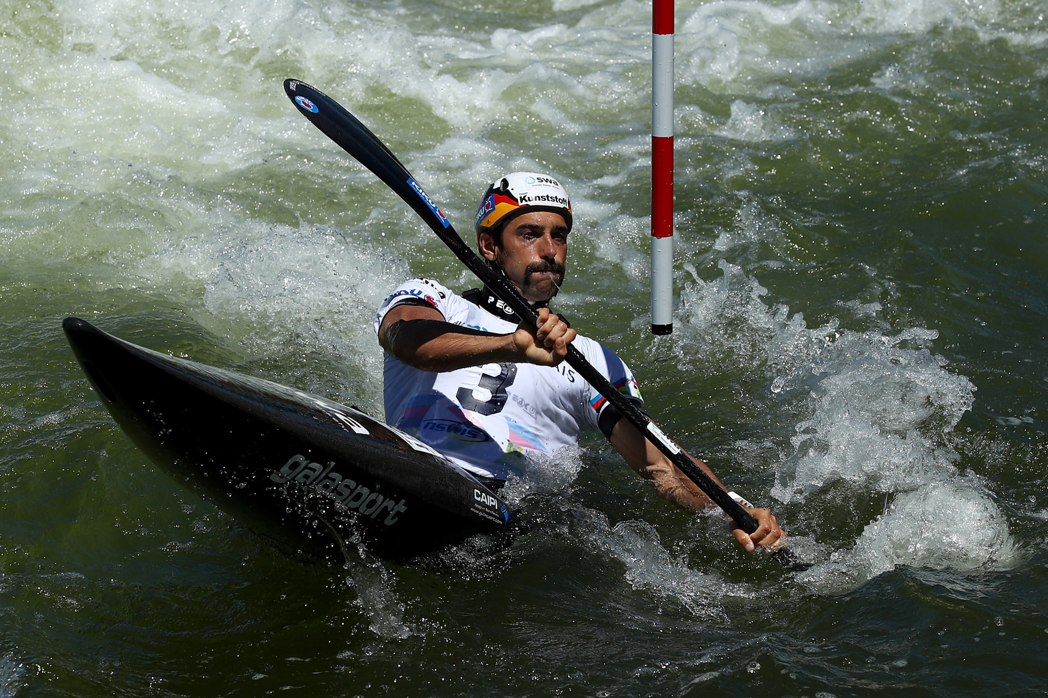 Germany's world champion Hannes Aigner is among the entrants for the men's K1 event ©Getty Images