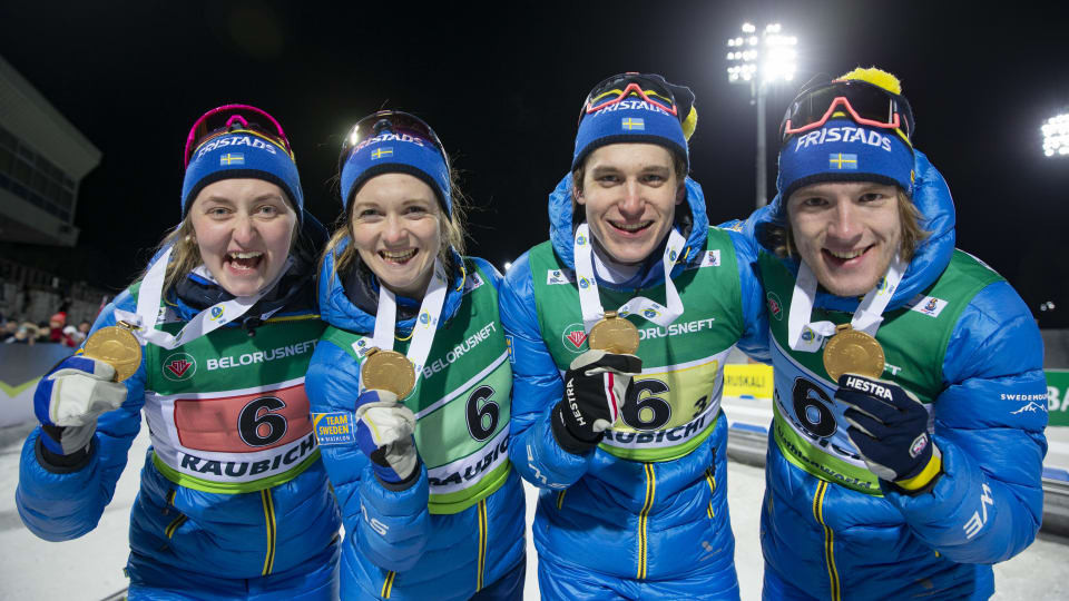 Olympic silver medallist Samuelsson leads Sweden to mixed relay gold at IBU Open European Championships