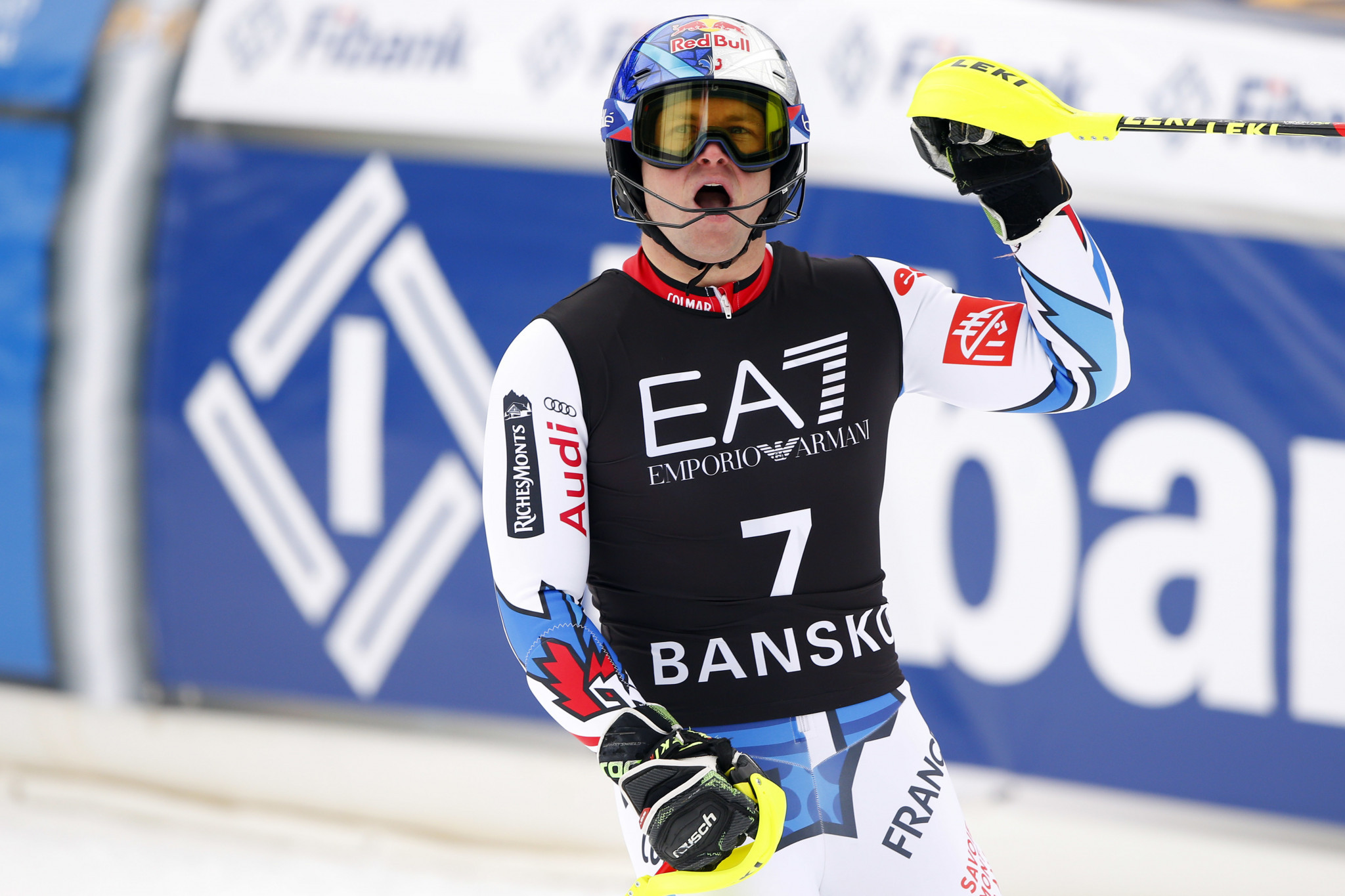 France's Alexis Pinturault won the Alpine combined event at the FIS Alpine Skiing World Cup in Bankso today, securing his fifth overall title in the discipline ©Getty Images