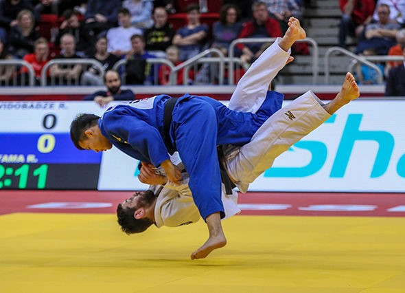 Japan's Ryuju Nagayama came out on top in the men's under-60kg category ©IJF
