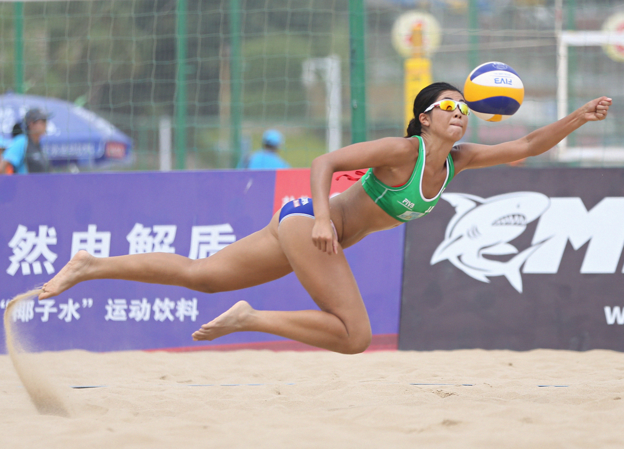 Japan's Takemi Nishibori and her partner Ayumi Kusano were one of four Japanese teams that progressed to the round-of-16 at the FIVB Beach Volleyball World Tour event in Phnom Penh ©Getty Images