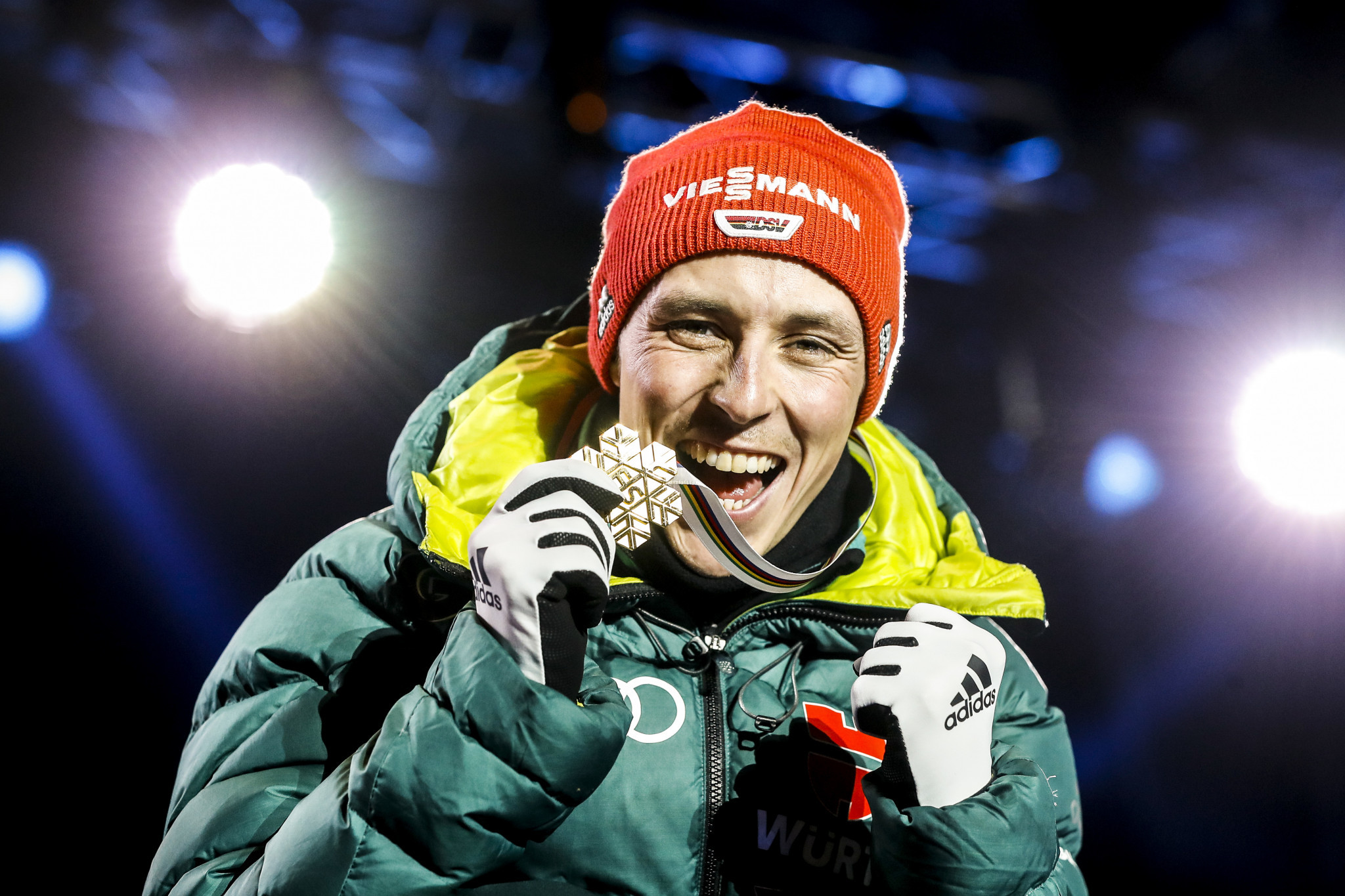Germany's Eric Frenzel secured his sixth world title at the FIS Nordic World Ski Championships in Seefeld ©Getty Images