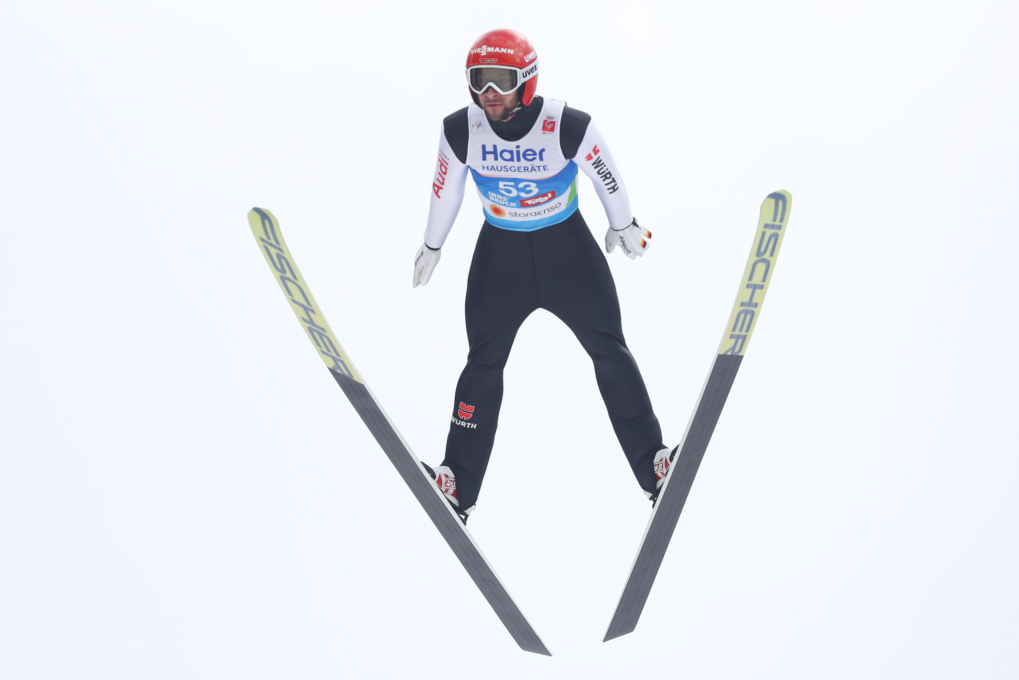 Germany's Markus Eisenbichler topped qualifying in the men's ski jumping at the FIS Nordic World Ski Championships ©Getty Images